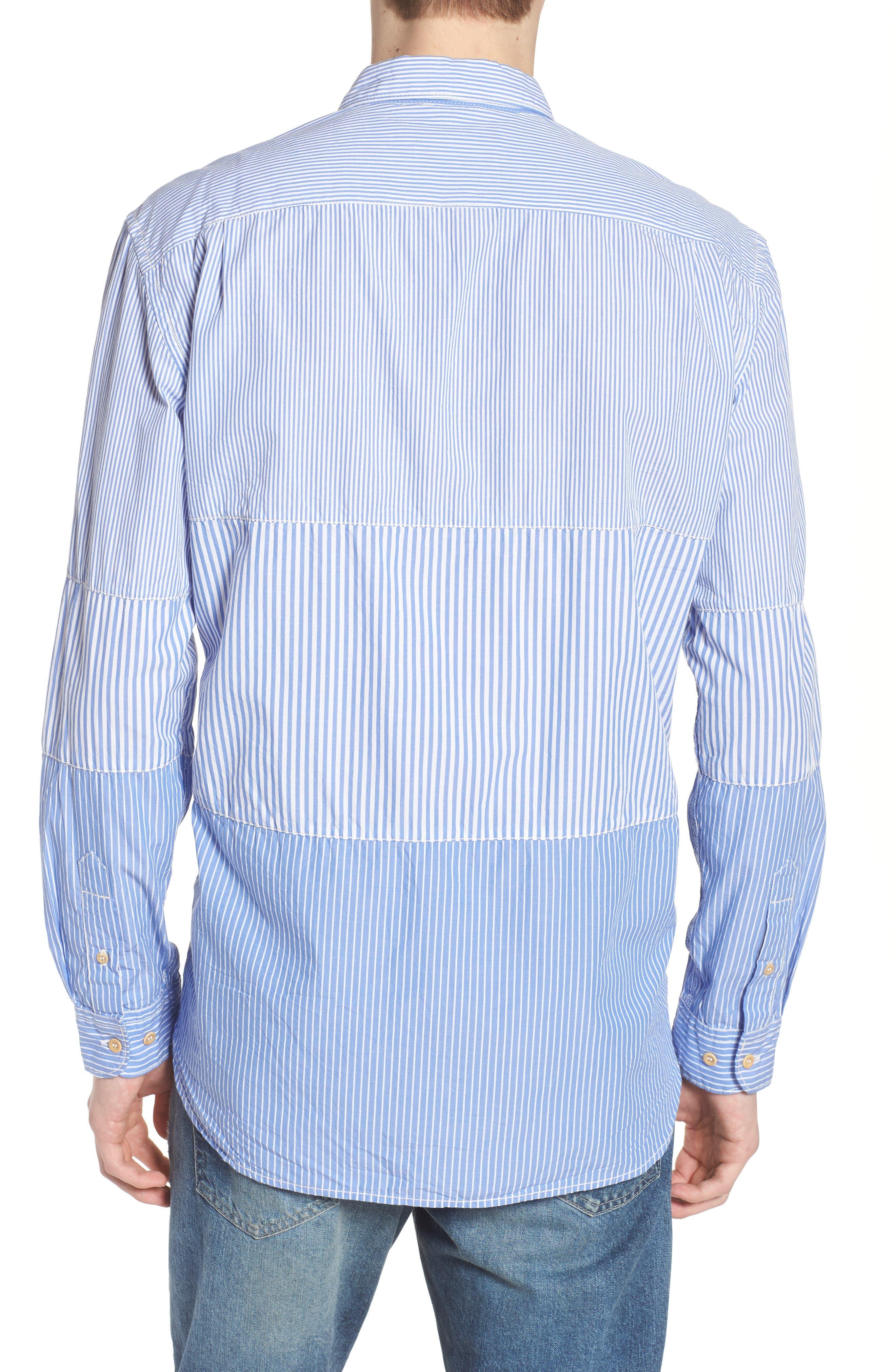 Regular Fit Stripe Sport Shirt,                             Alternate thumbnail 2, color,                             All Stripe