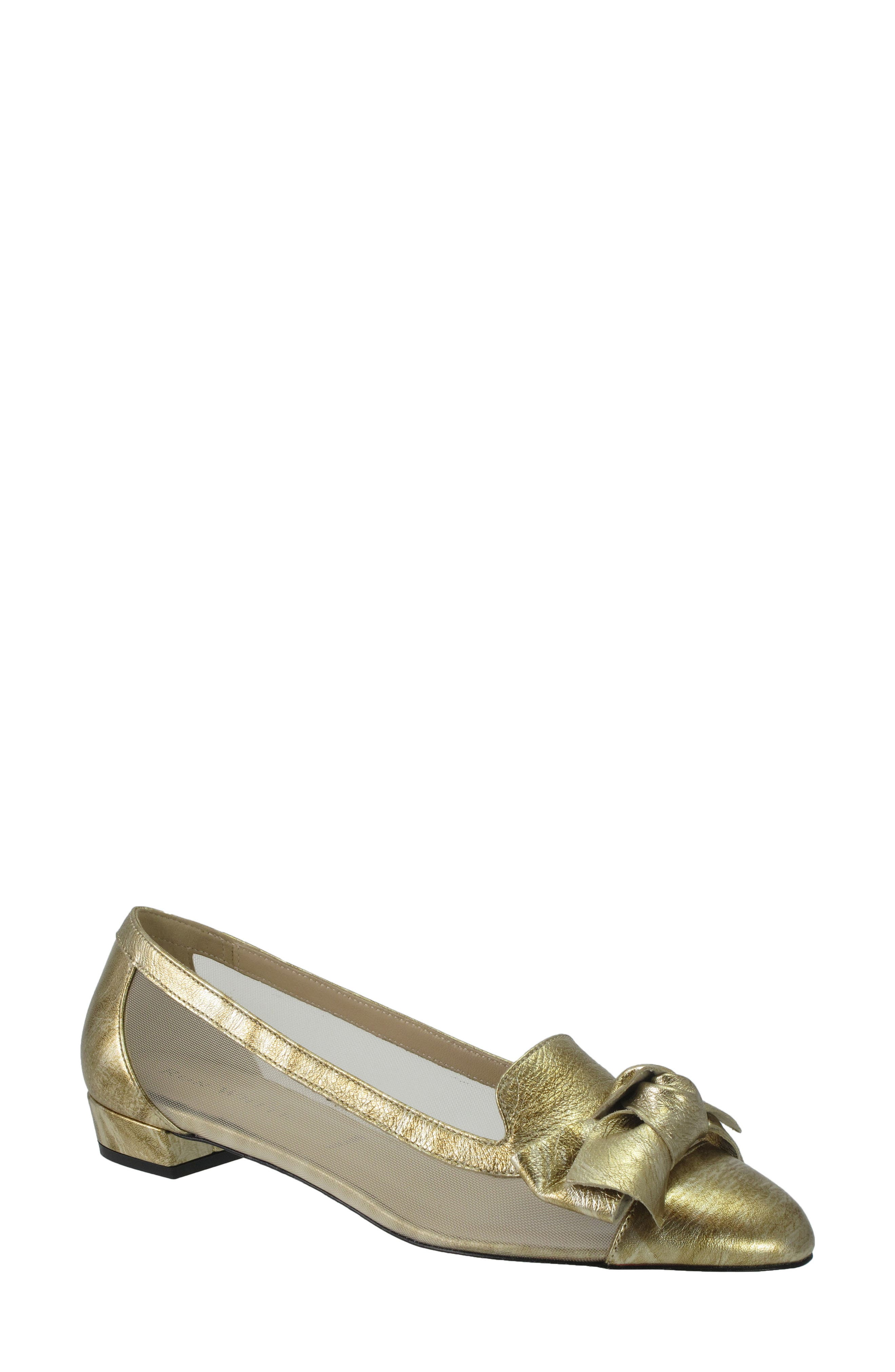 Hetti Bow Pump,                         Main,                         color, Rose Gold Leather