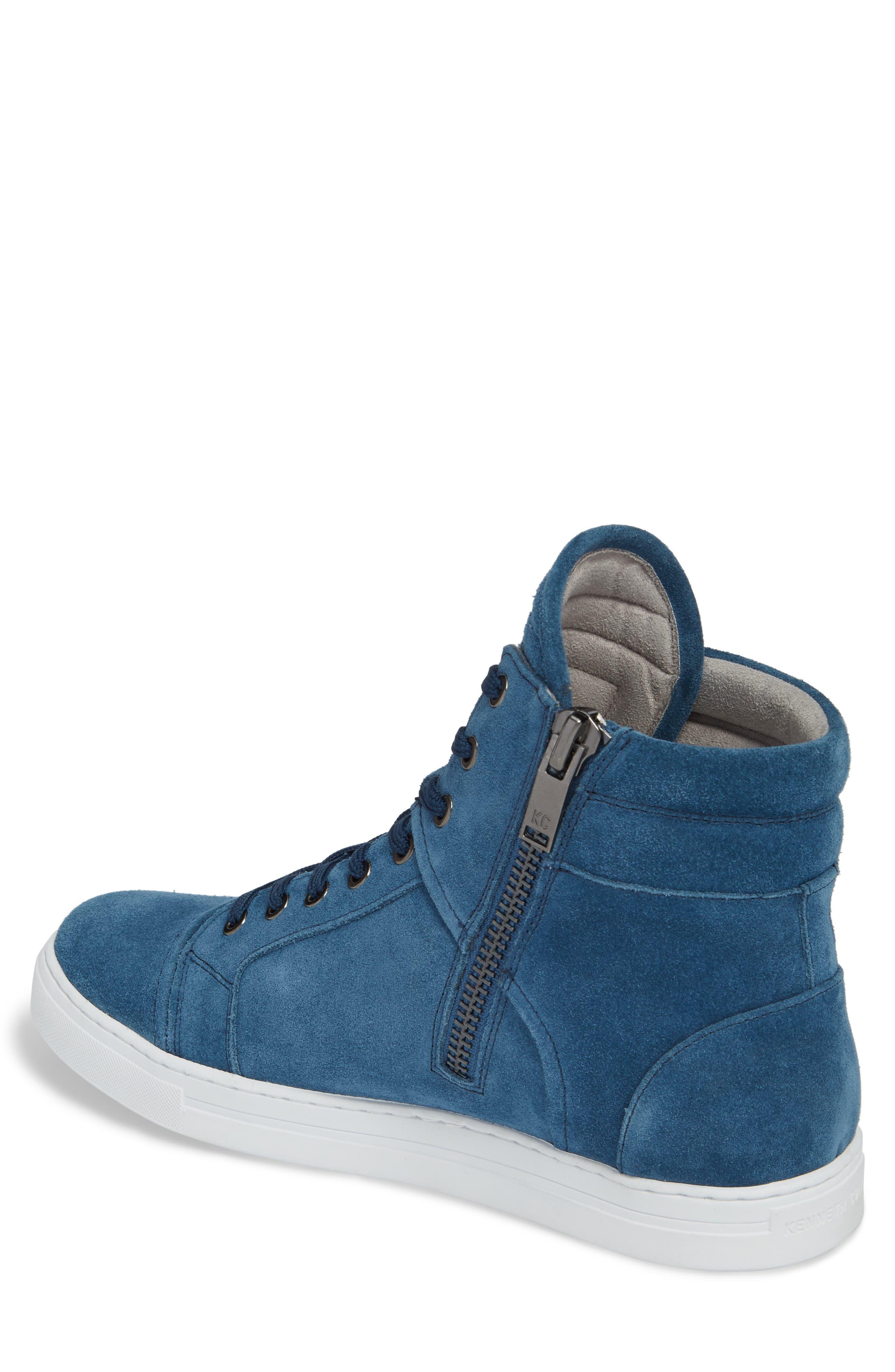 Double Header Sneaker,                             Alternate thumbnail 2, color,                             Blue Suede