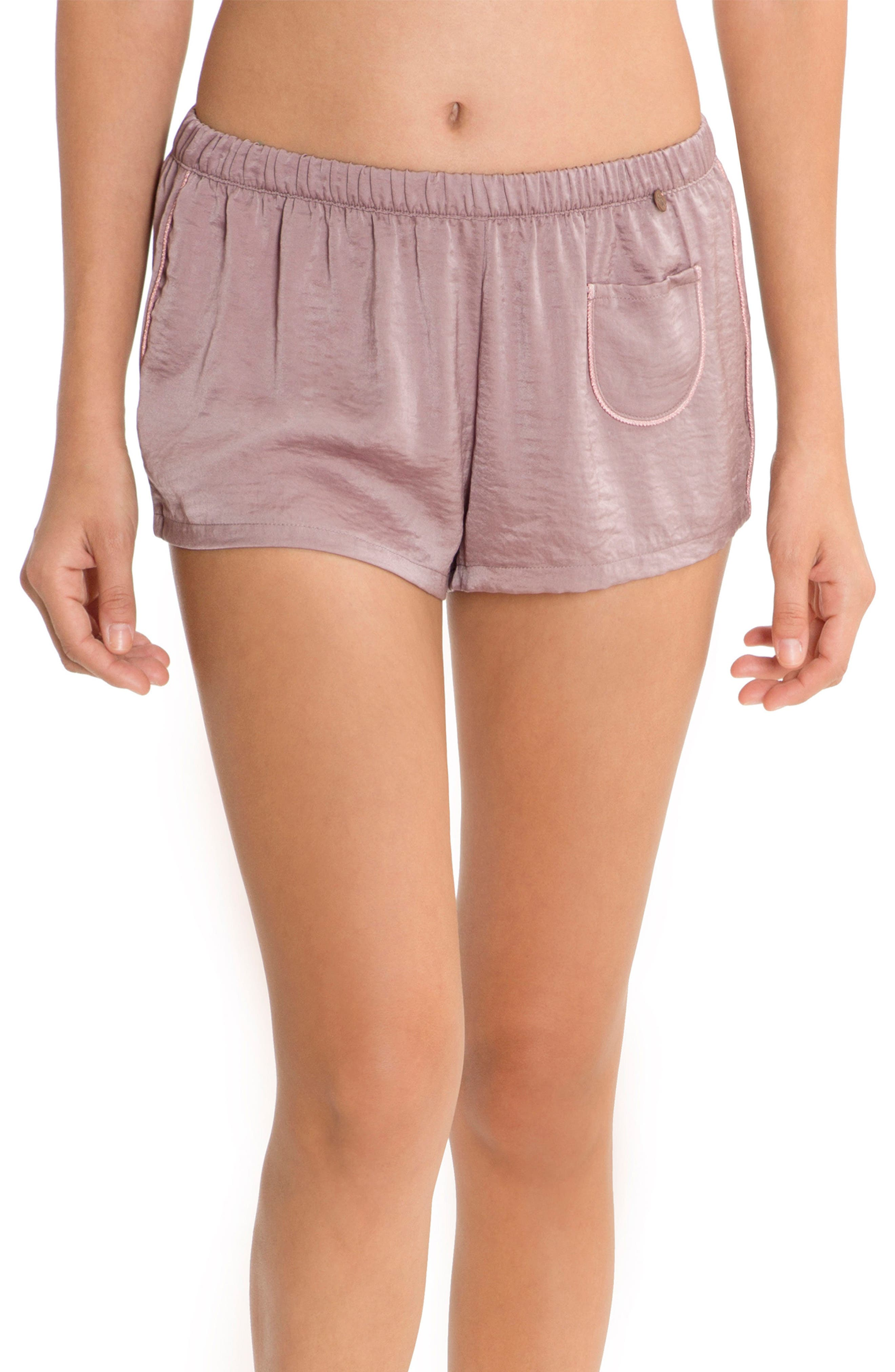 Pajama Shorts,                             Main thumbnail 1, color,                             Lilac