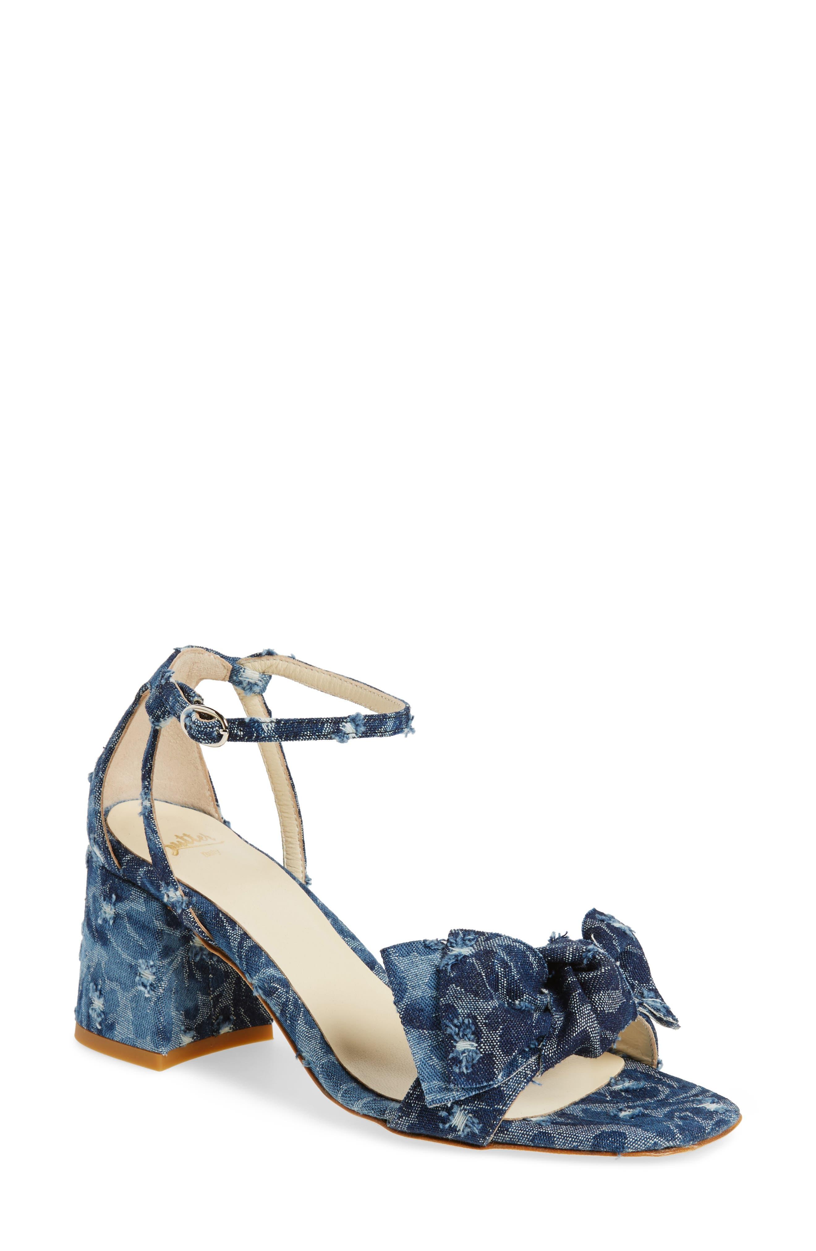 Butter Flower Sandal,                         Main,                         color, Jeans