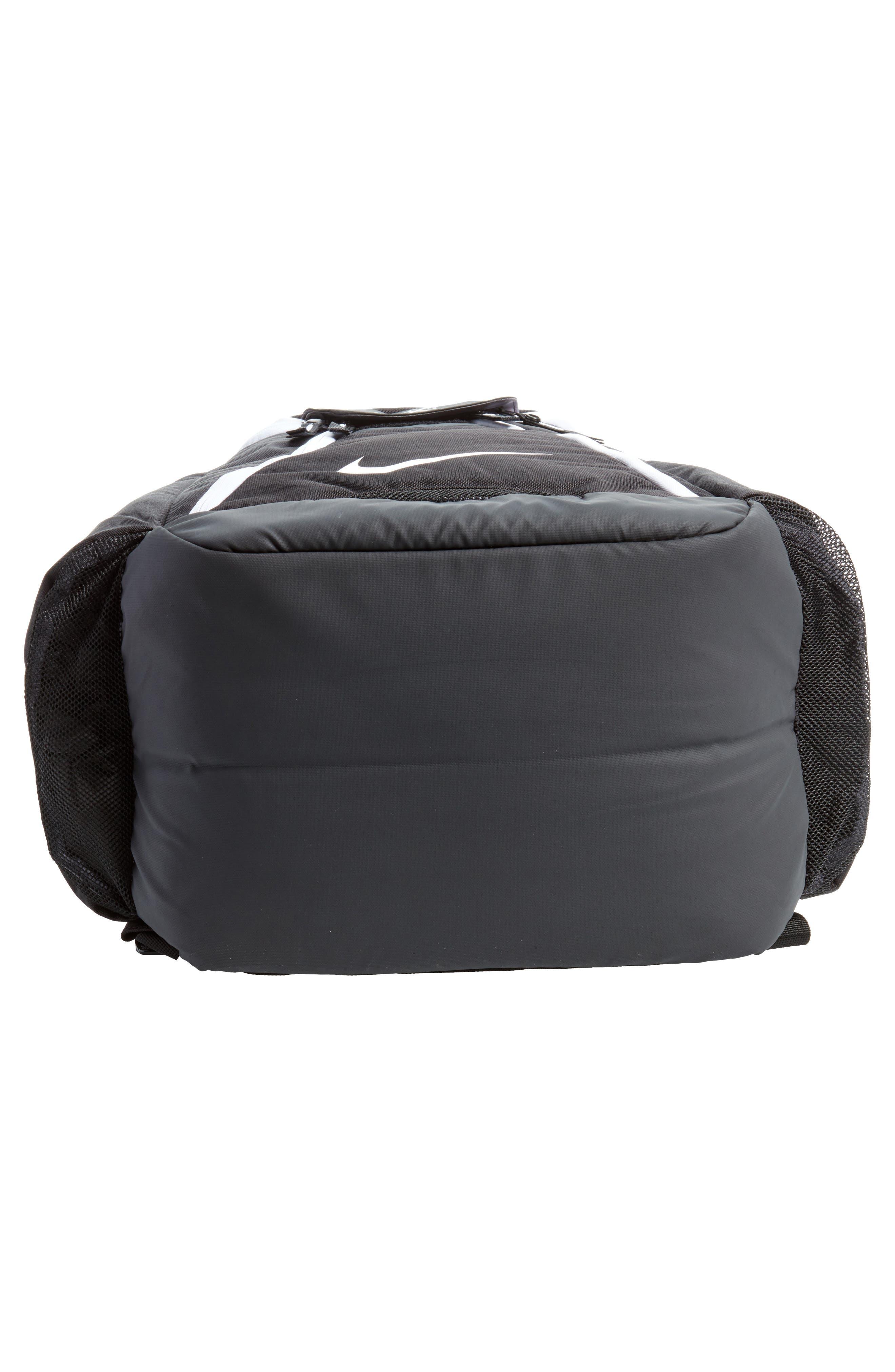 Hoops Elite Max Air Team Backpack,                             Alternate thumbnail 5, color,                             Black / White