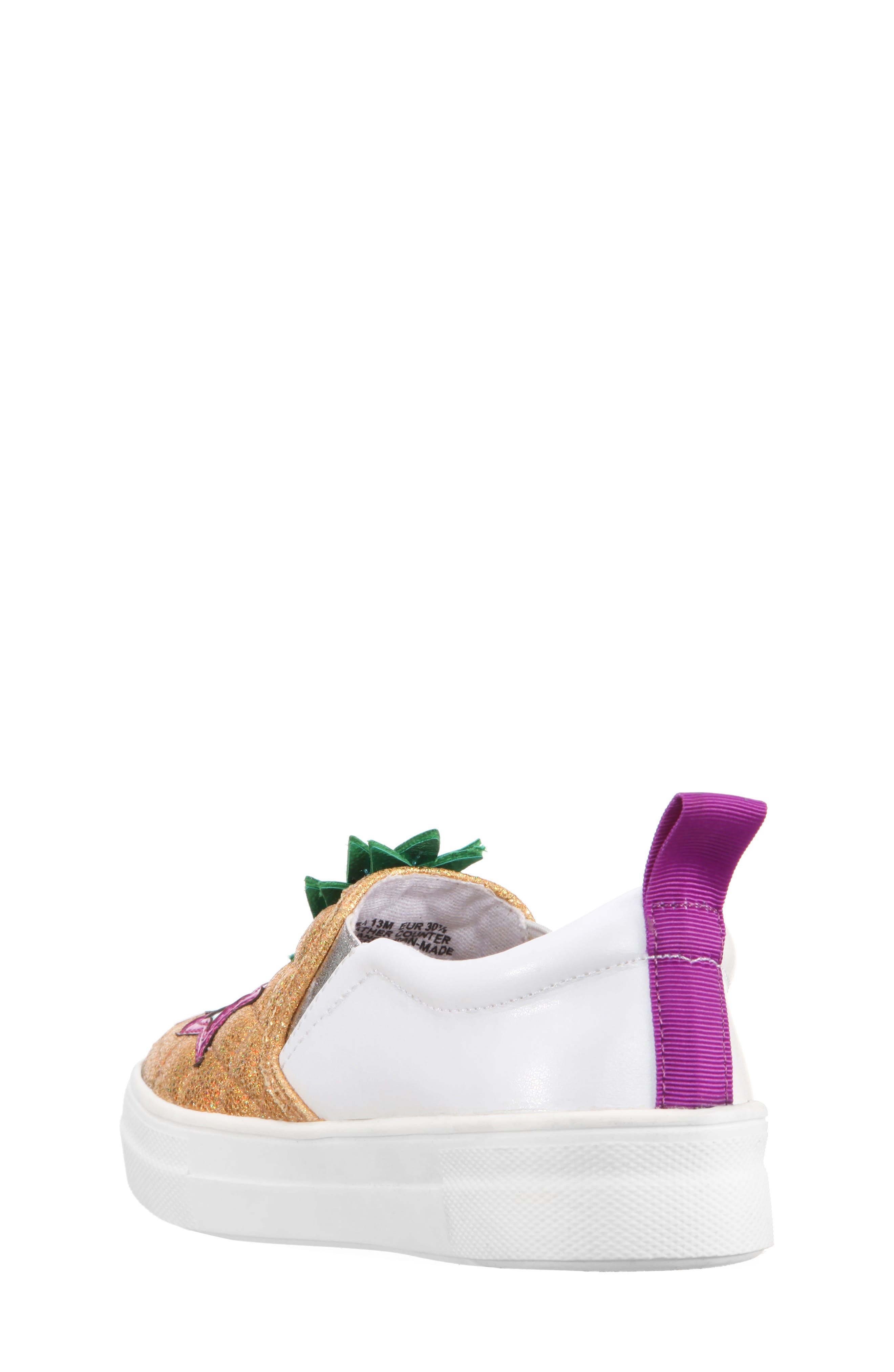 Alternate Image 2  - Nina Samanntha Pineapple Slip-On Sneaker (Toddler, Little Kid & Big Kid)
