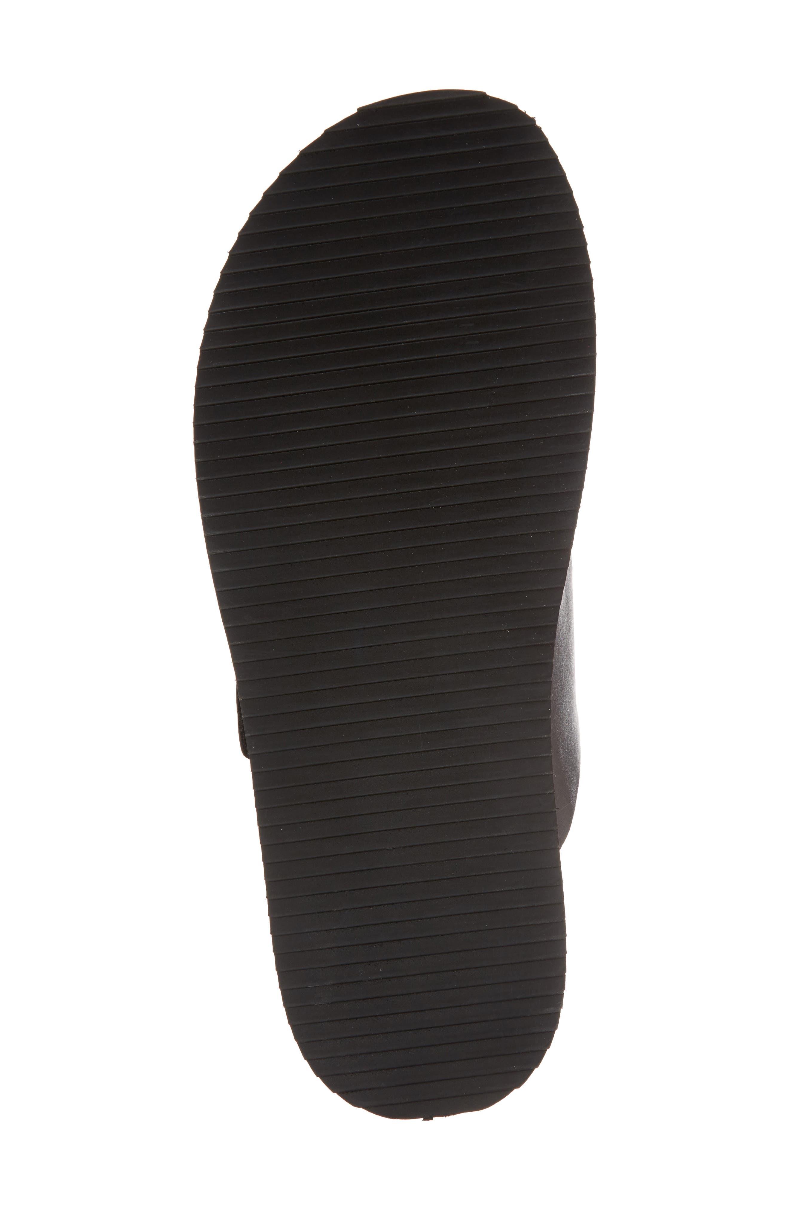 Story Slide Sandal,                             Alternate thumbnail 6, color,                             Black Leather