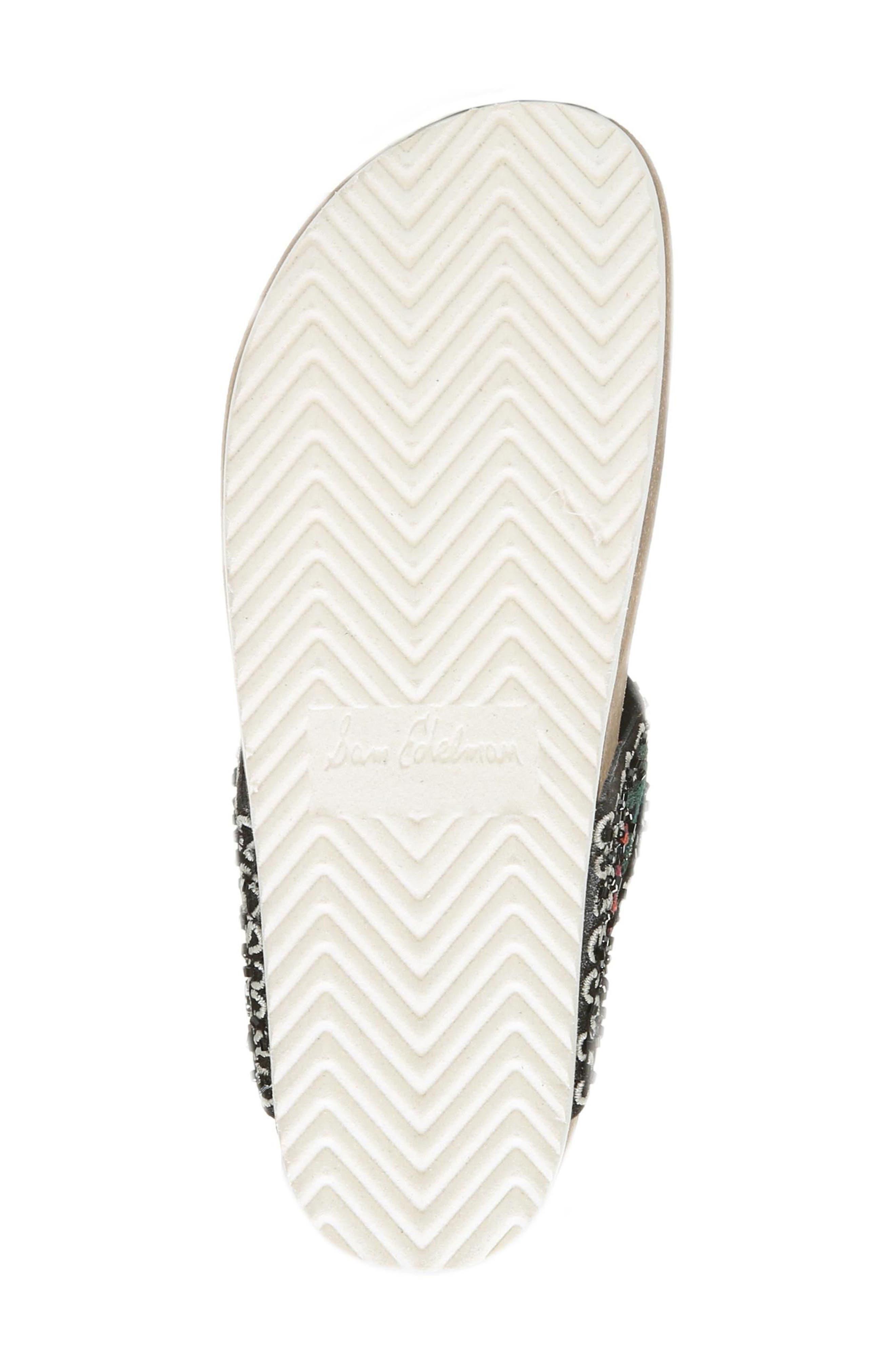 Olivie Beaded Flip Flop,                             Alternate thumbnail 6, color,                             Black Multi
