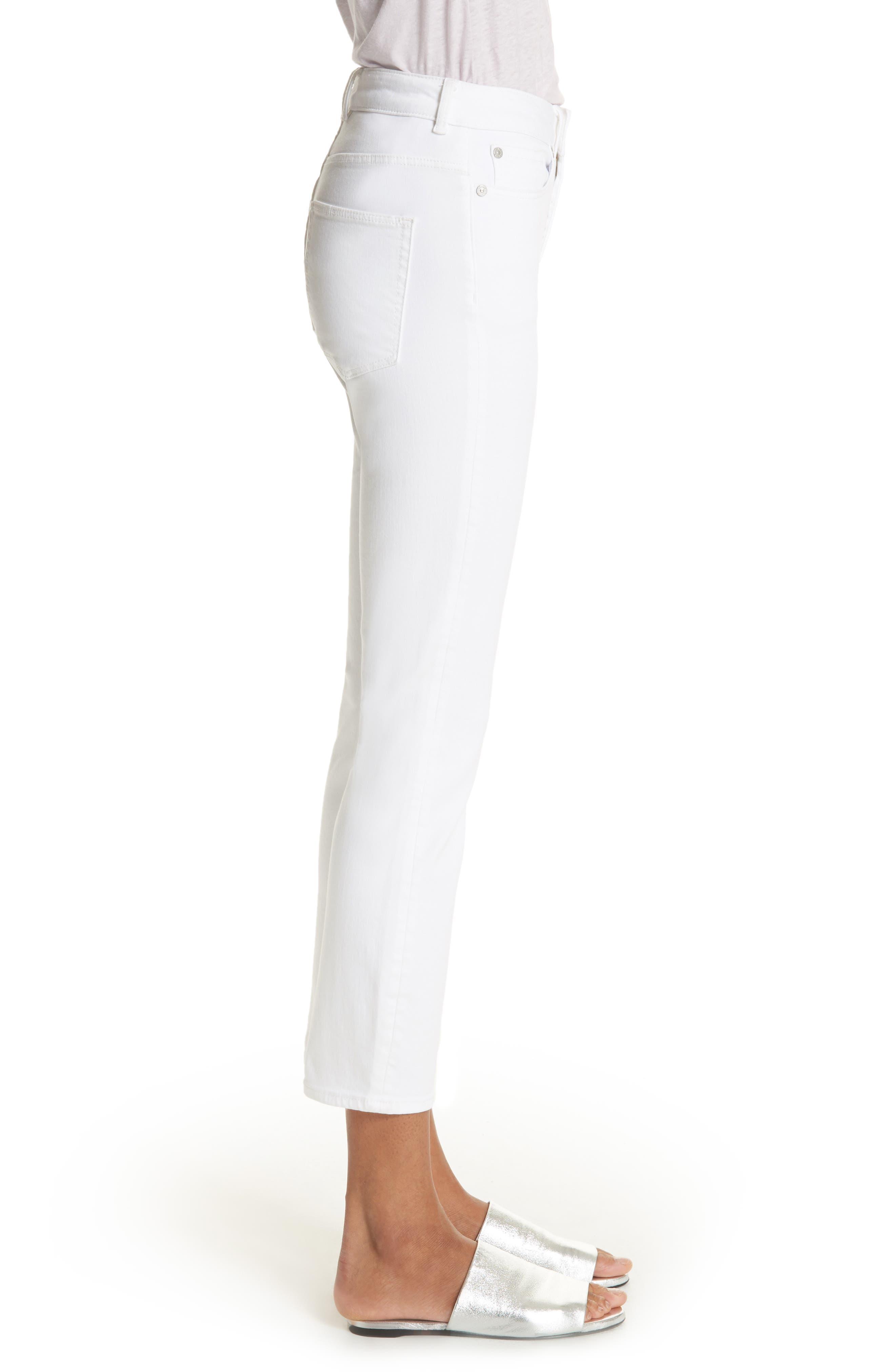 Clemence Crop Jeans,                             Alternate thumbnail 3, color,                             Milk