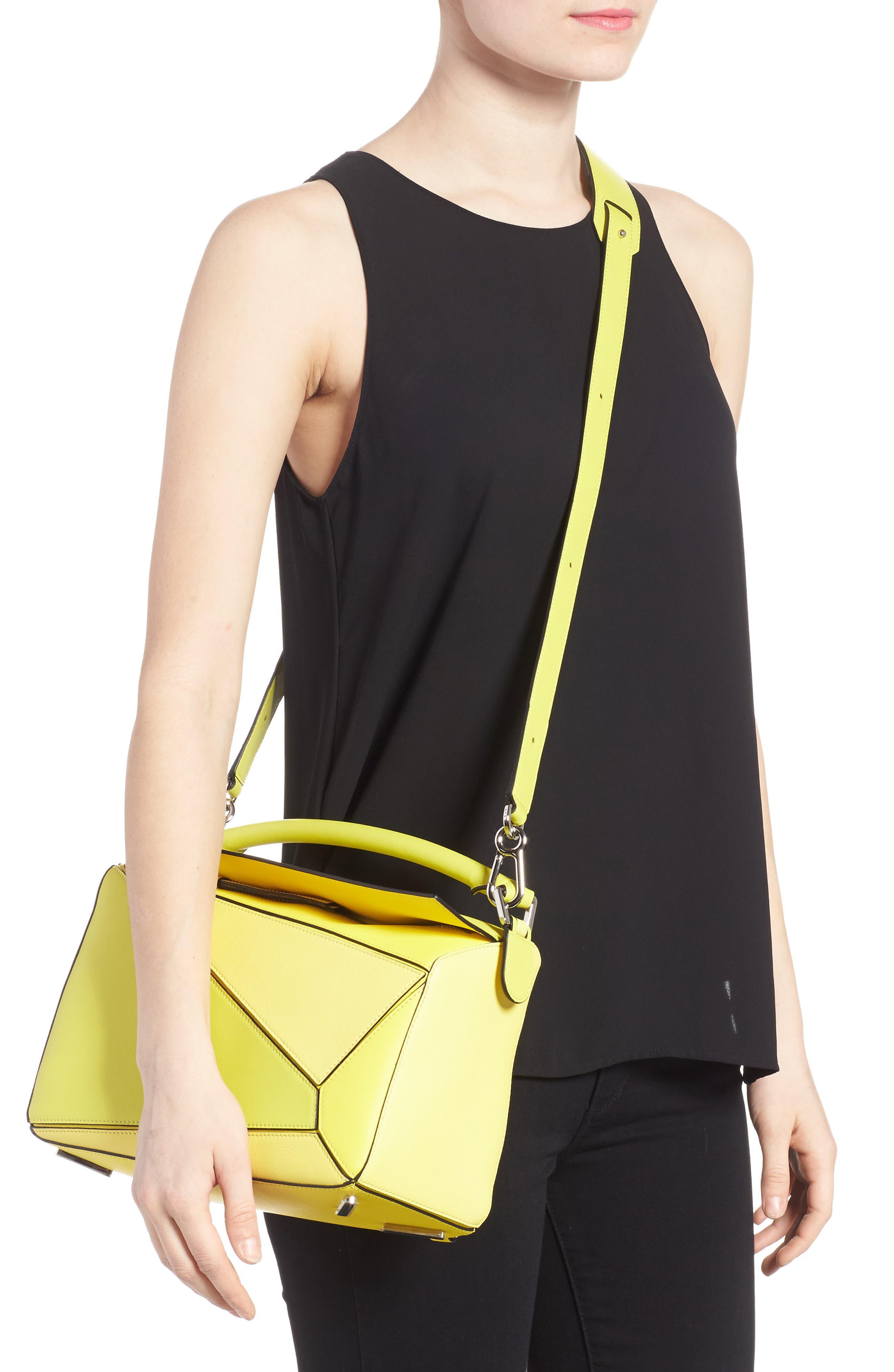 Medium Puzzle Calfskin Leather Shoulder Bag,                             Alternate thumbnail 2, color,                             Yellow Multitone