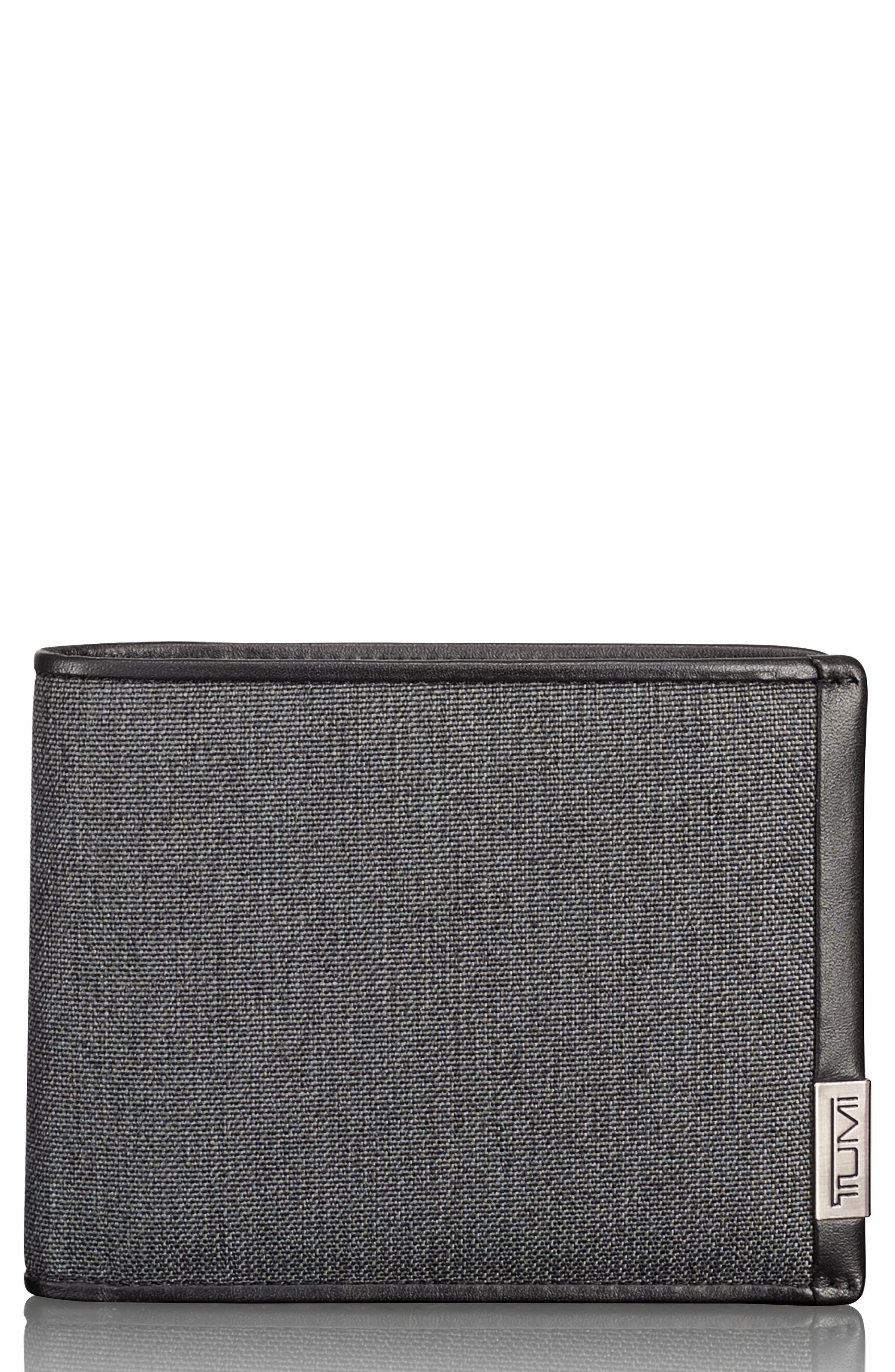 Alpha Global Pass Case Wallet,                             Main thumbnail 1, color,                             Anthracite/ Black