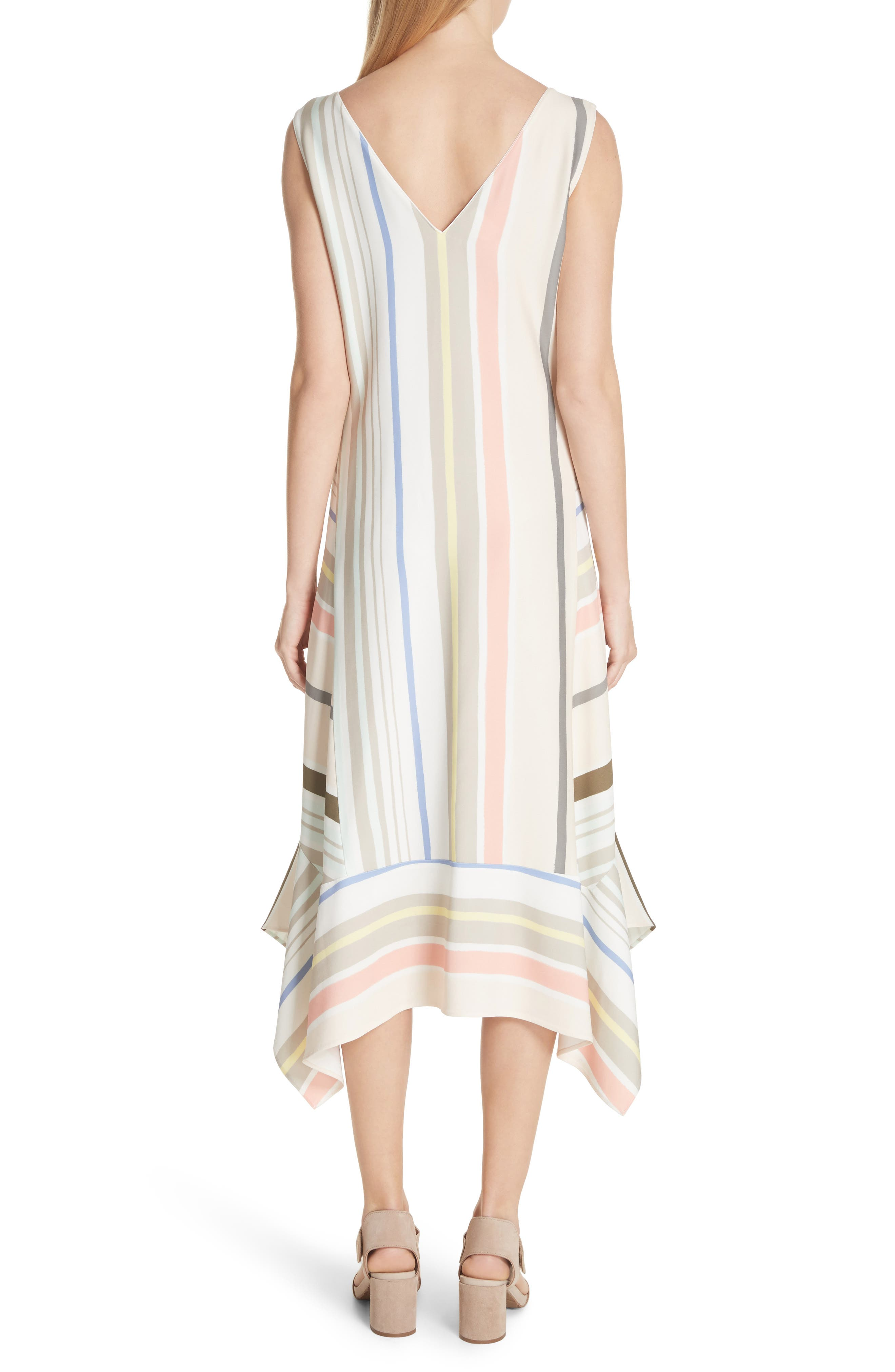 Mesa Stripe Midi Dress,                             Alternate thumbnail 2, color,                             Khaki Multi