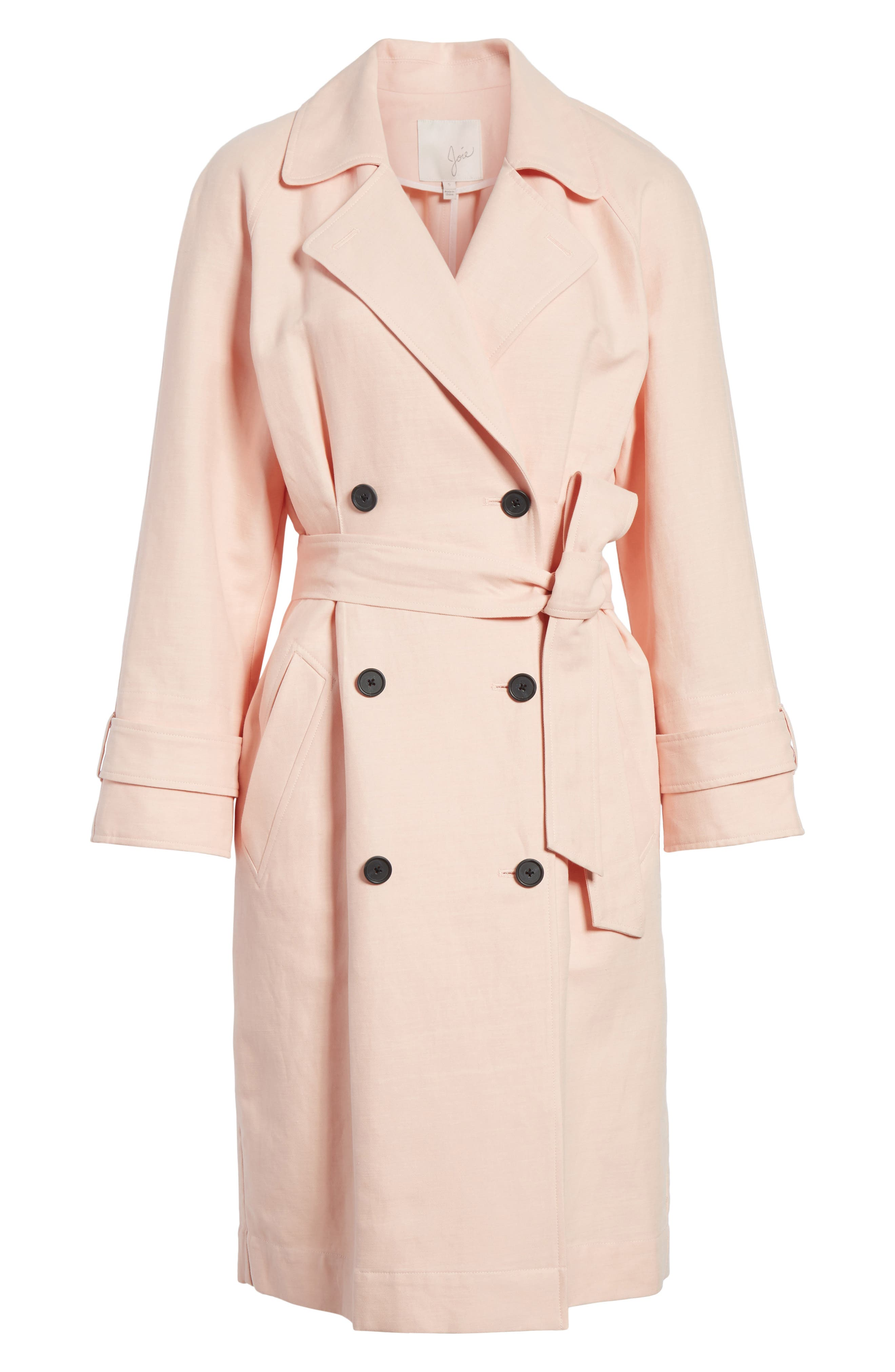 Damonica Trench Coat,                             Alternate thumbnail 6, color,                             Washed Rose