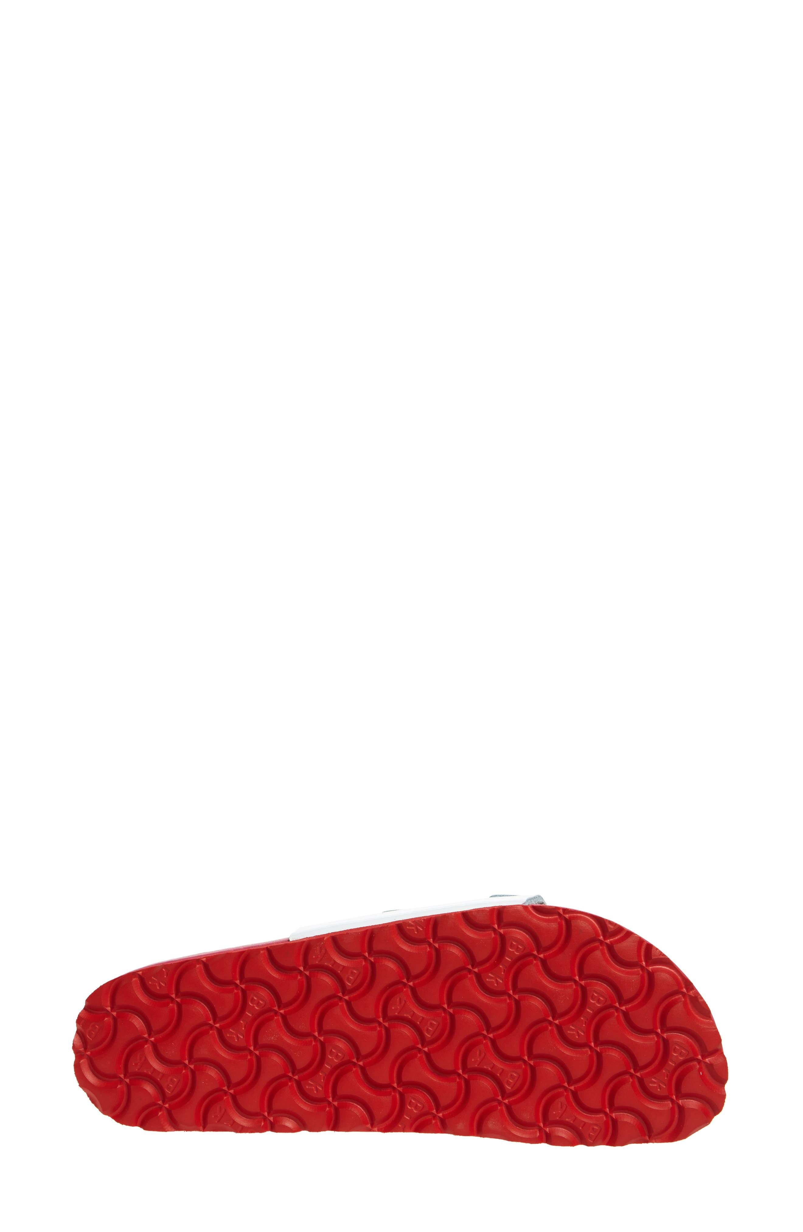 Vaduz Exquisite Limited Edition - Shock Drop Sandal,                             Alternate thumbnail 6, color,                             White Leather