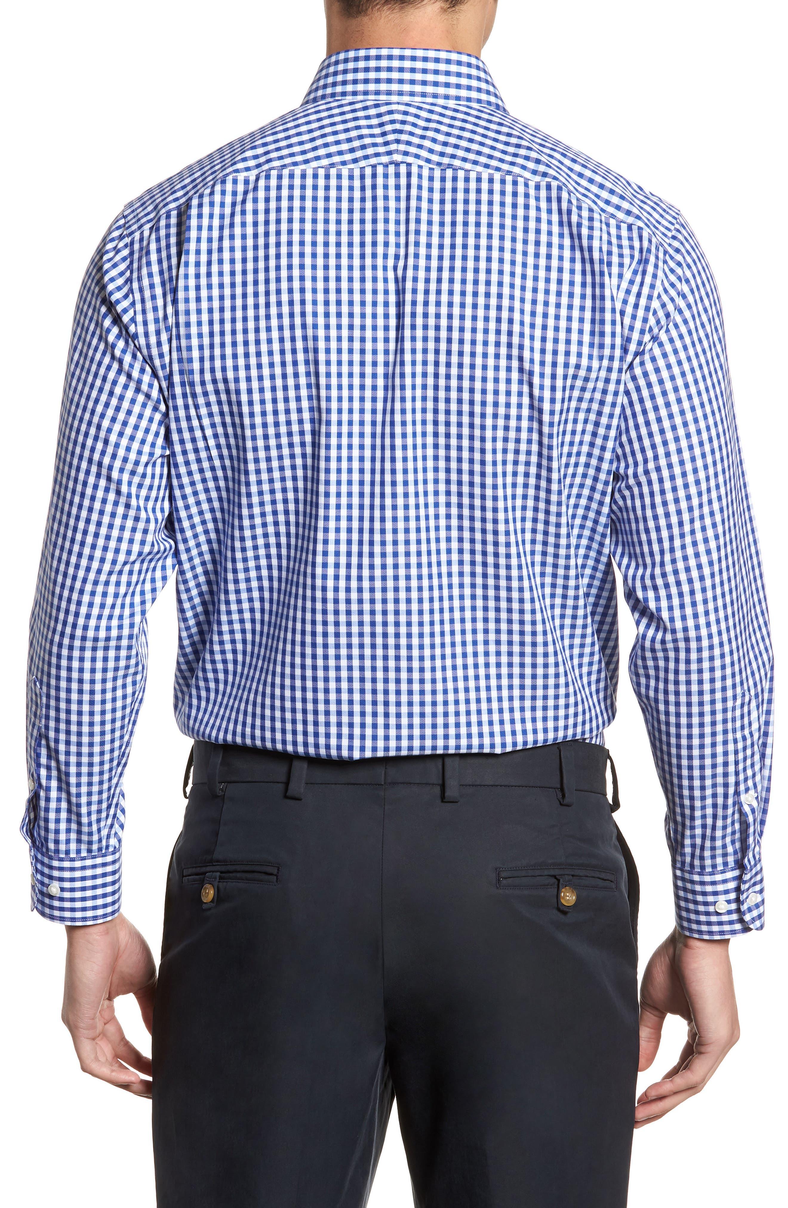 Smartcare<sup>™</sup> Traditional Fit Check Dress Shirt,                             Alternate thumbnail 3, color,                             Blue Mazarine