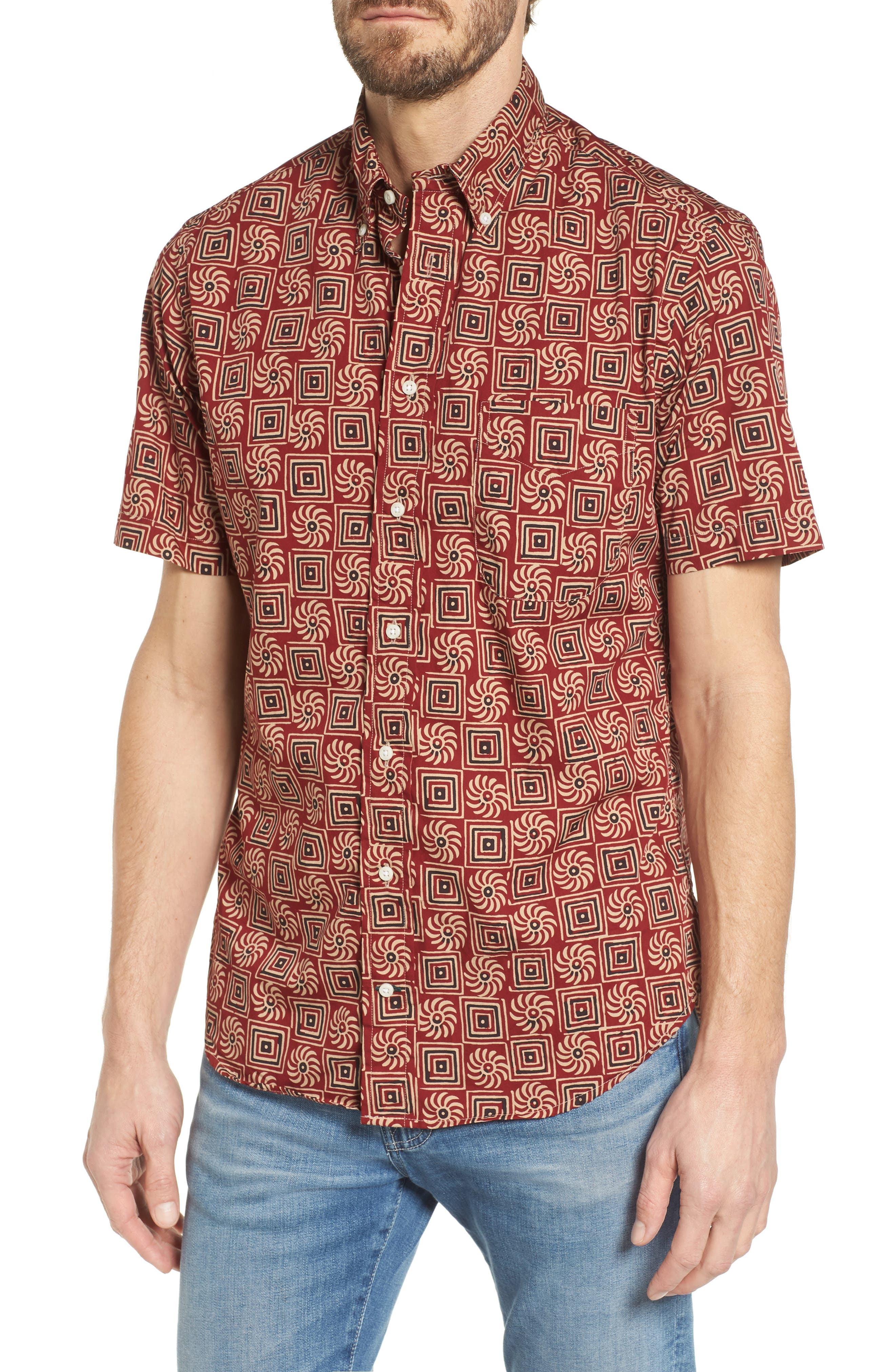 Camp Shirt,                         Main,                         color, Multi