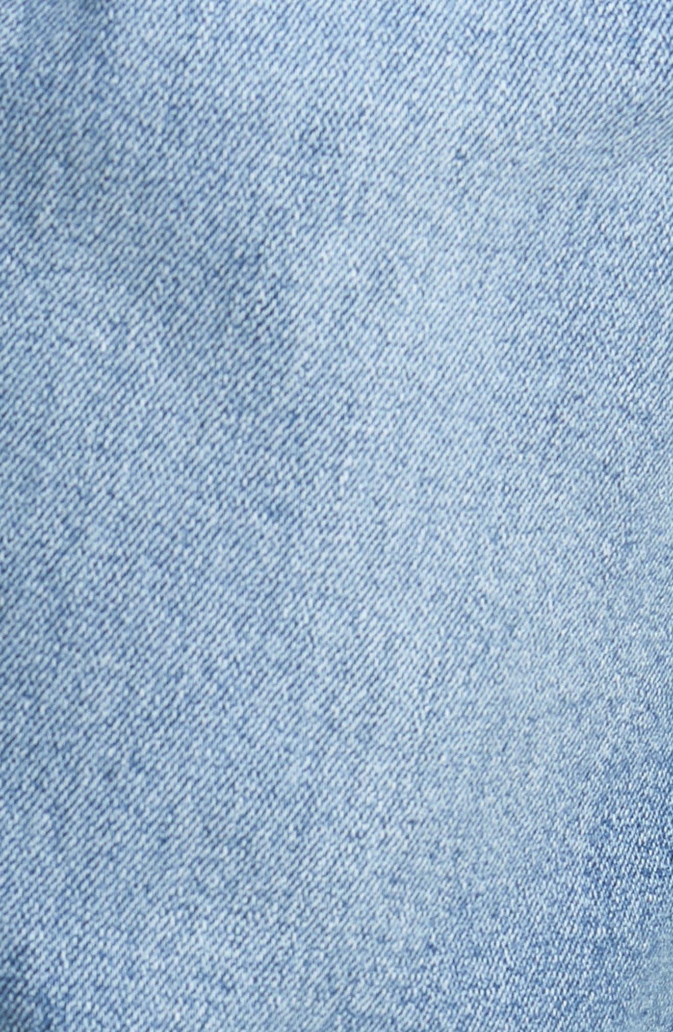 Clark Slim Straight Leg Jeans,                             Alternate thumbnail 5, color,                             Shaded Mid Blue