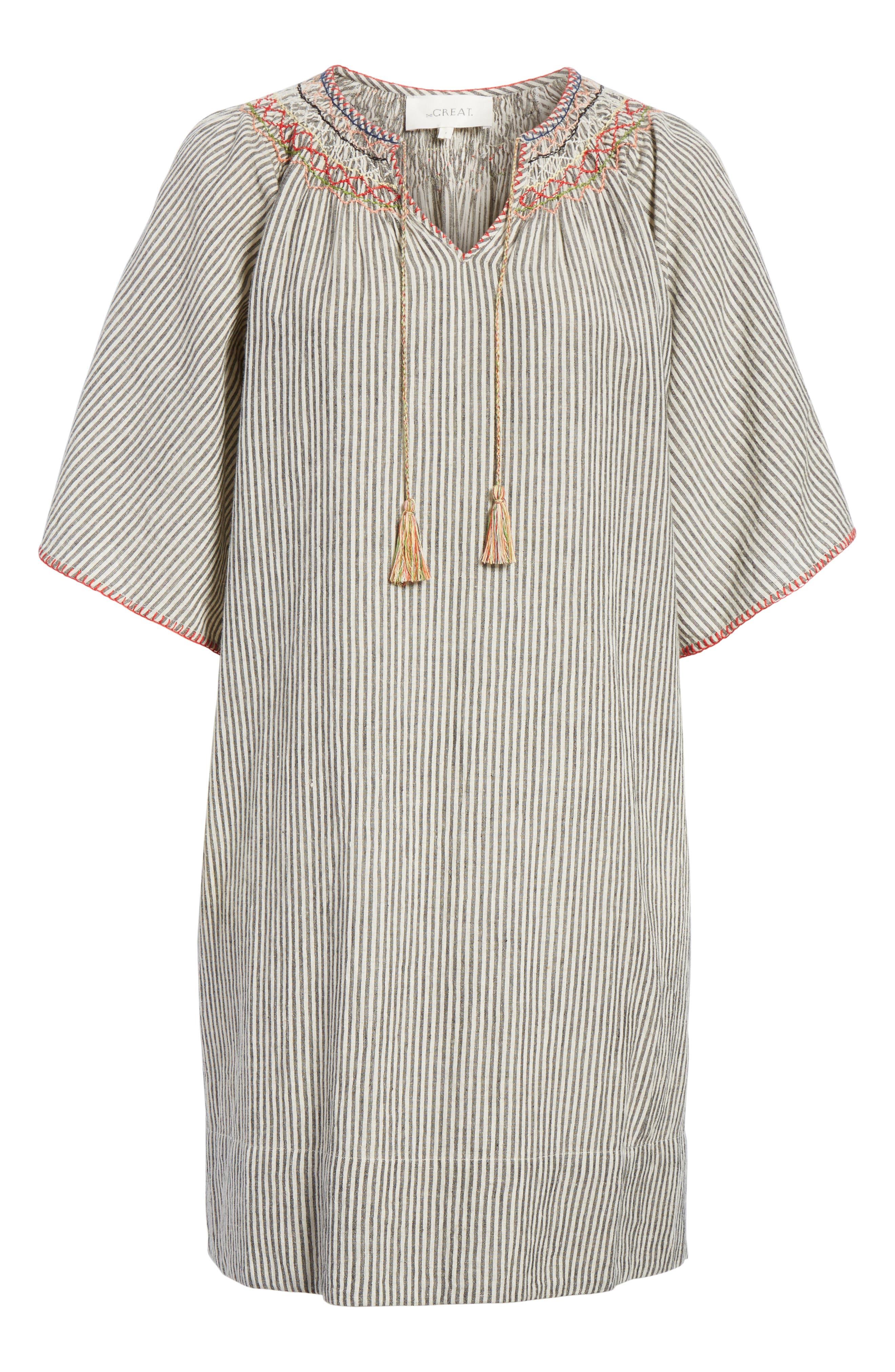 The Butterfly Smock Dress,                             Alternate thumbnail 6, color,                             Rail Stripe