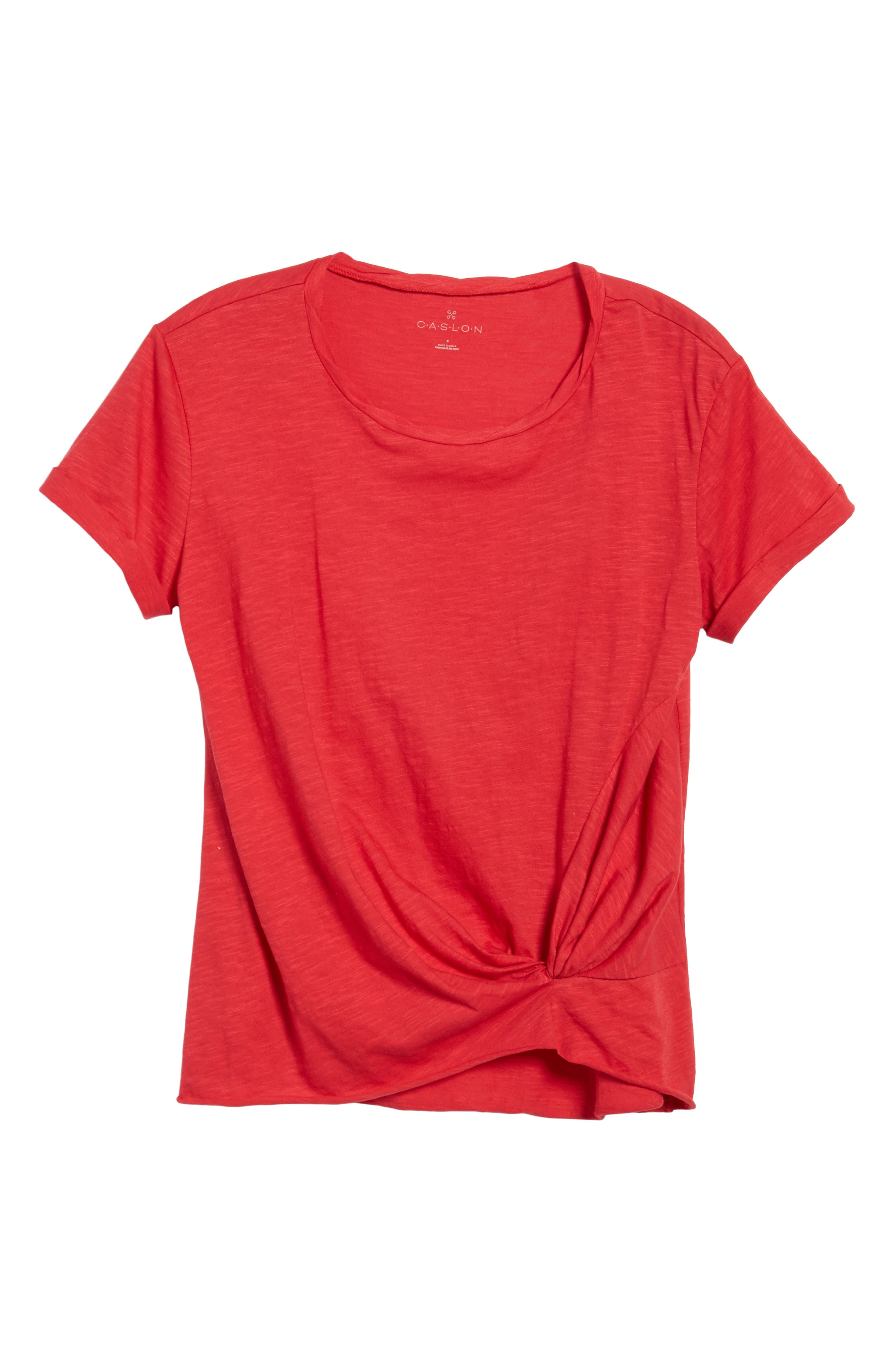 Knotted Tee,                             Alternate thumbnail 6, color,                             Red Jalapeno