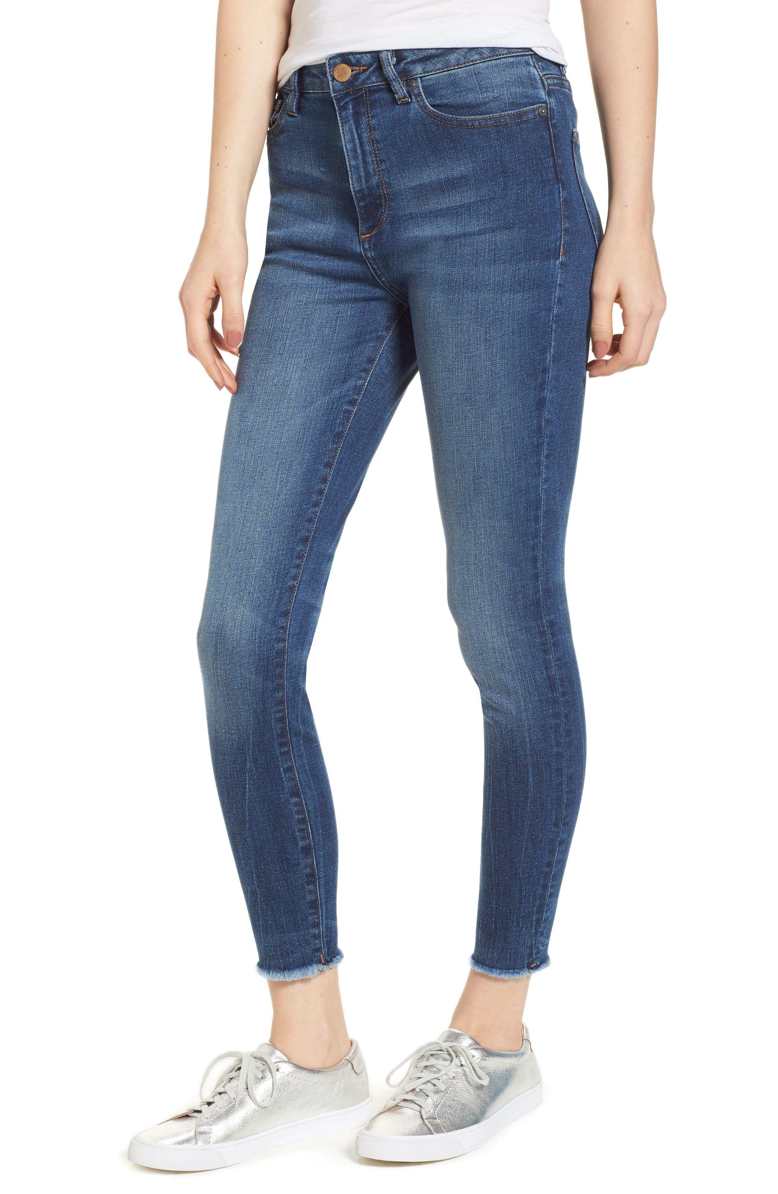 Chrissy Trimtone High Waist Skinny Jeans,                             Main thumbnail 1, color,                             Bal Harbour