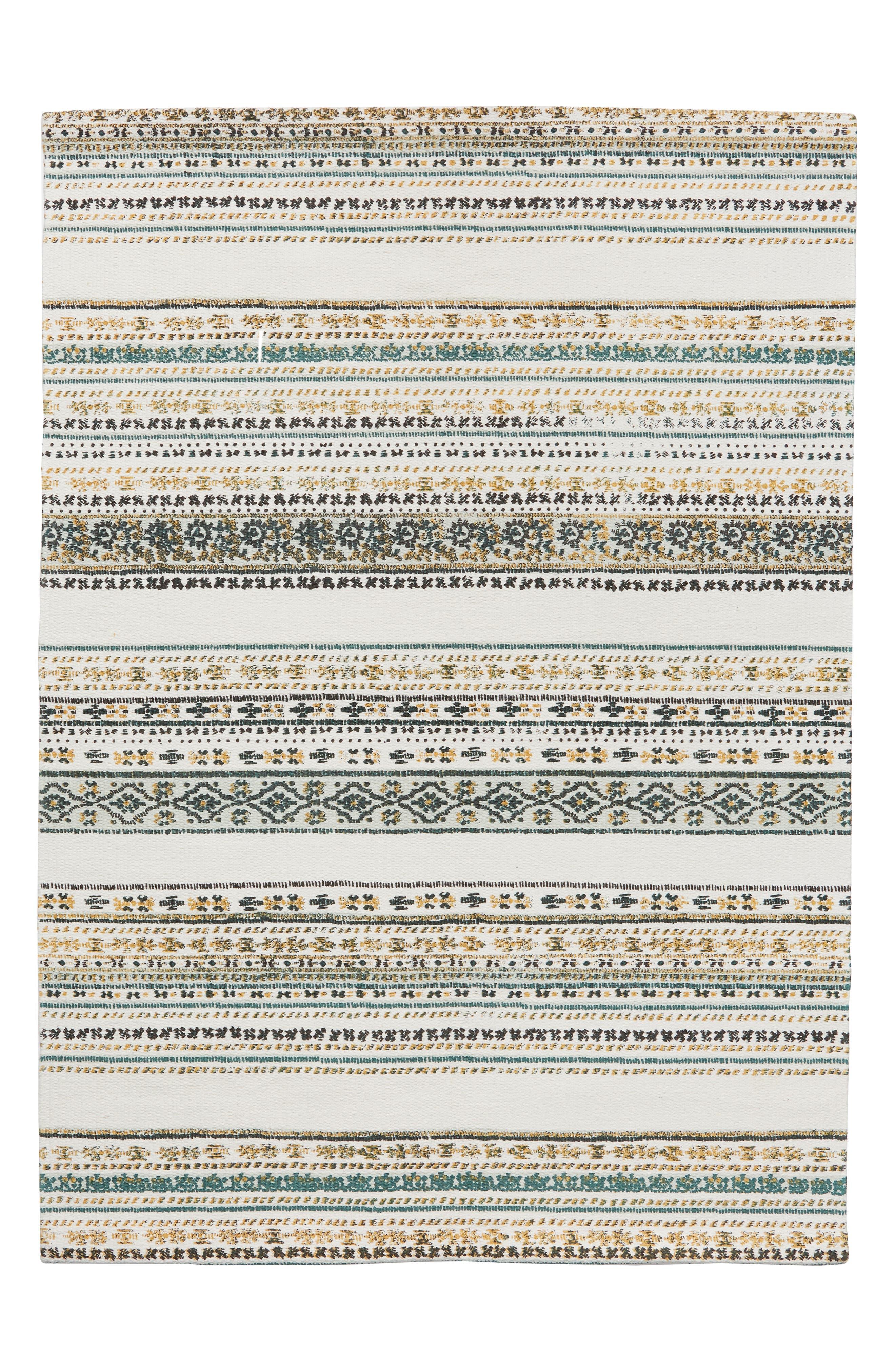 Stripe Rug,                             Main thumbnail 1, color,                             Ivory Multi