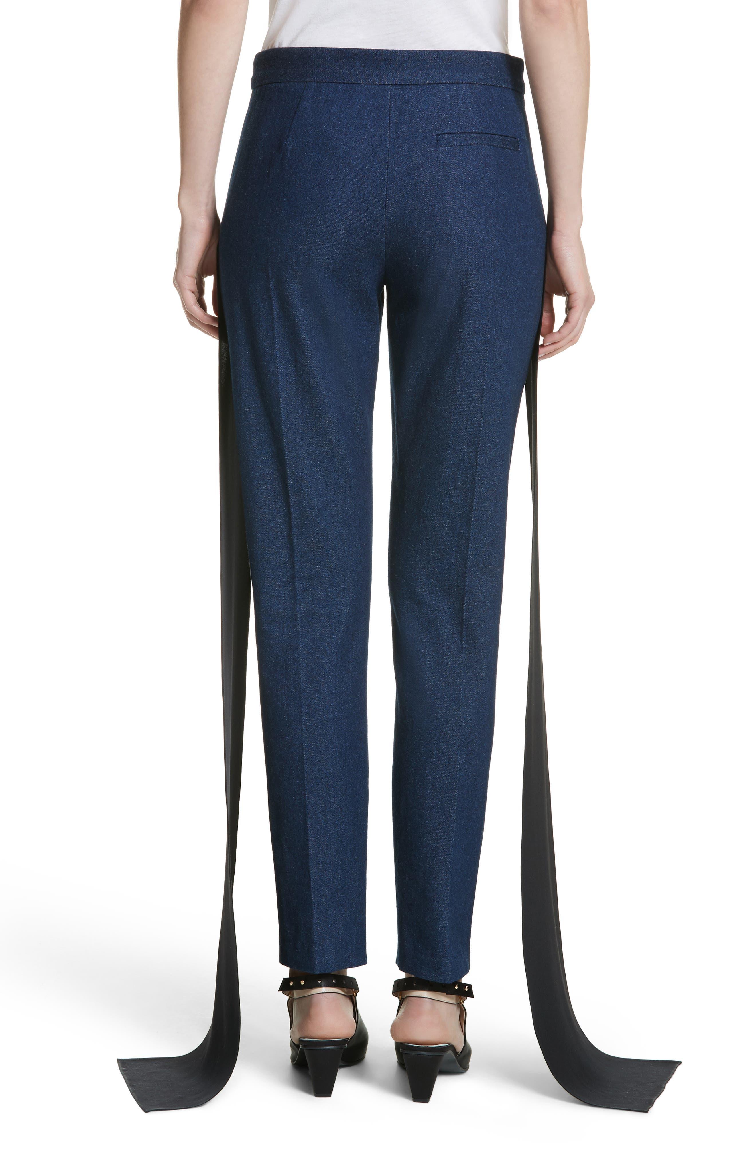 Mojave Side Panel Skinny Jeans,                             Alternate thumbnail 3, color,                             Dark Wash Denim