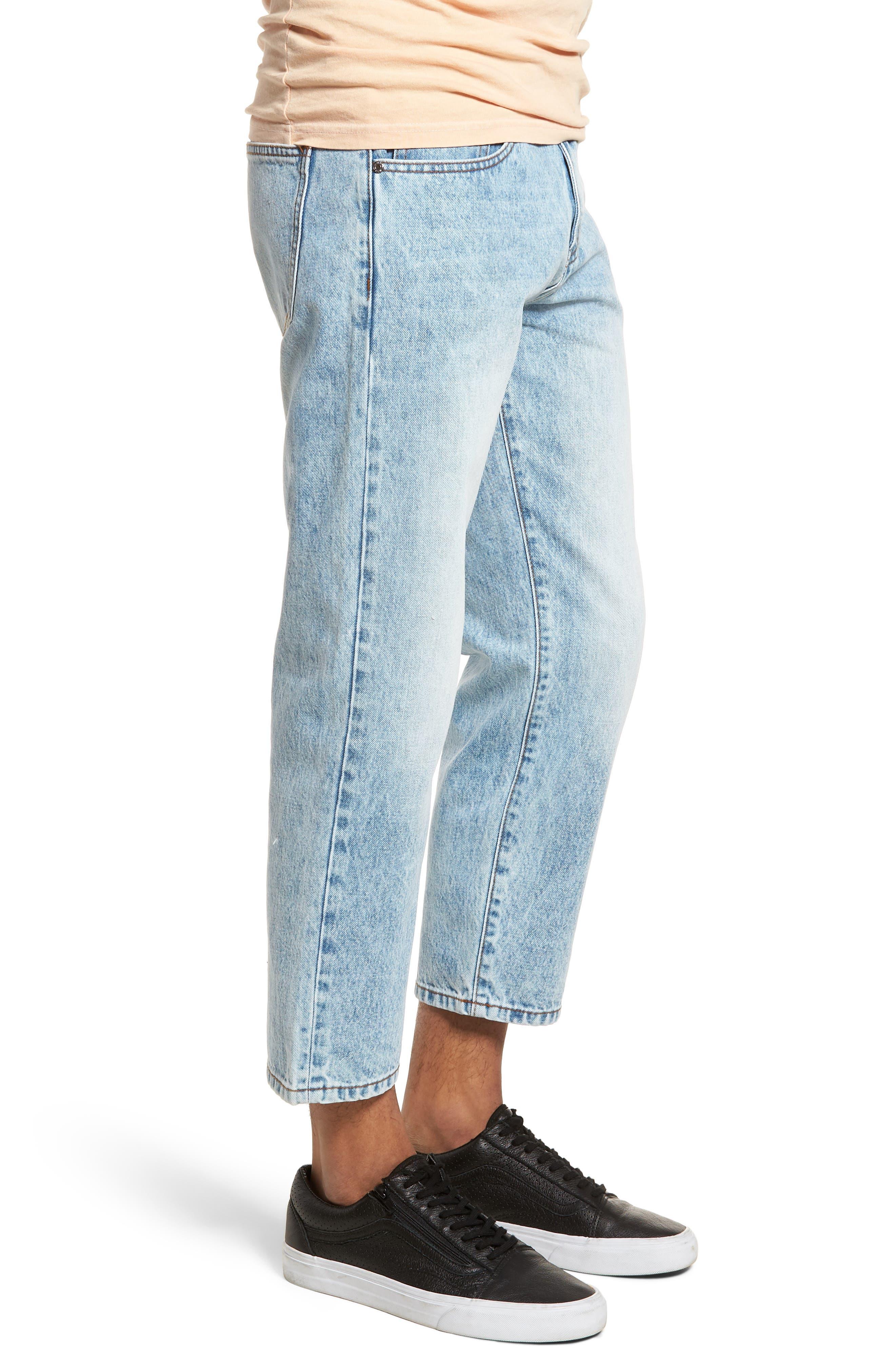 Otis Straight Leg Jeans,                             Alternate thumbnail 3, color,                             Light Blue Wash