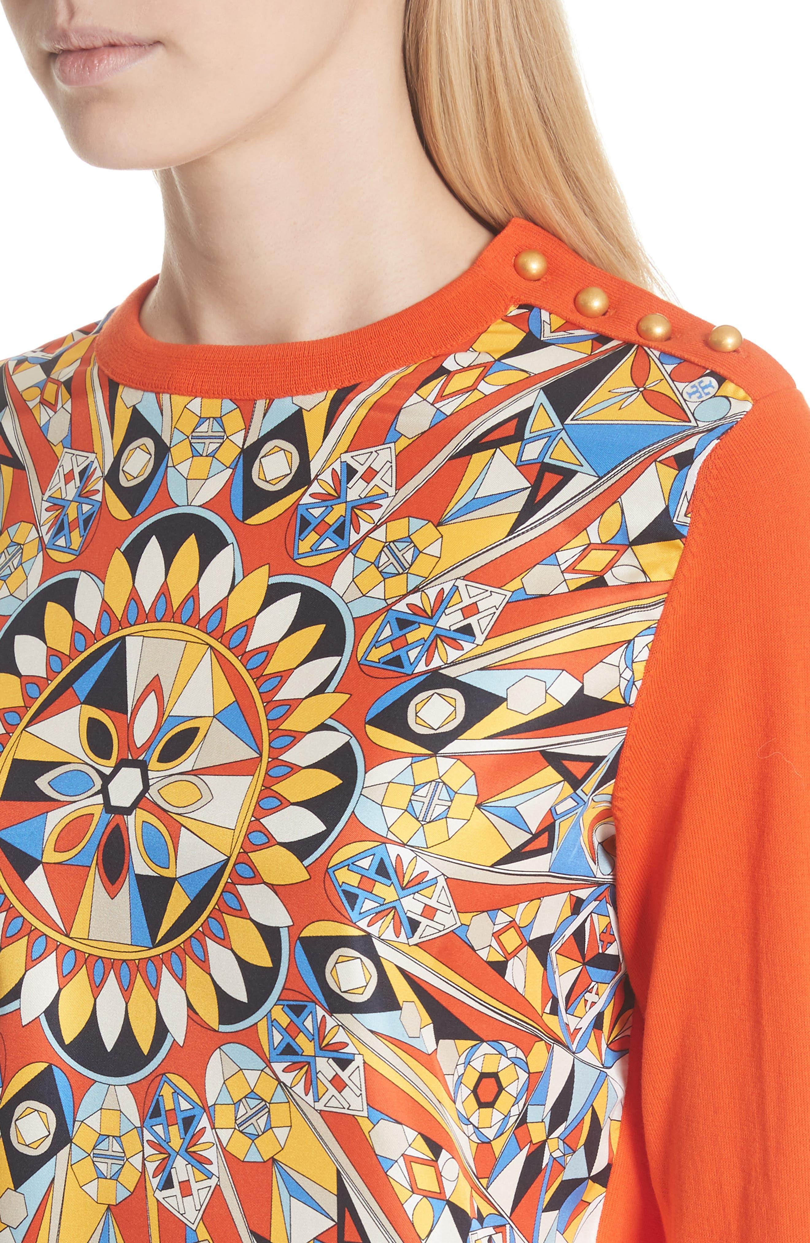Alyssa Sweater,                             Alternate thumbnail 4, color,                             Sweet Tangerine