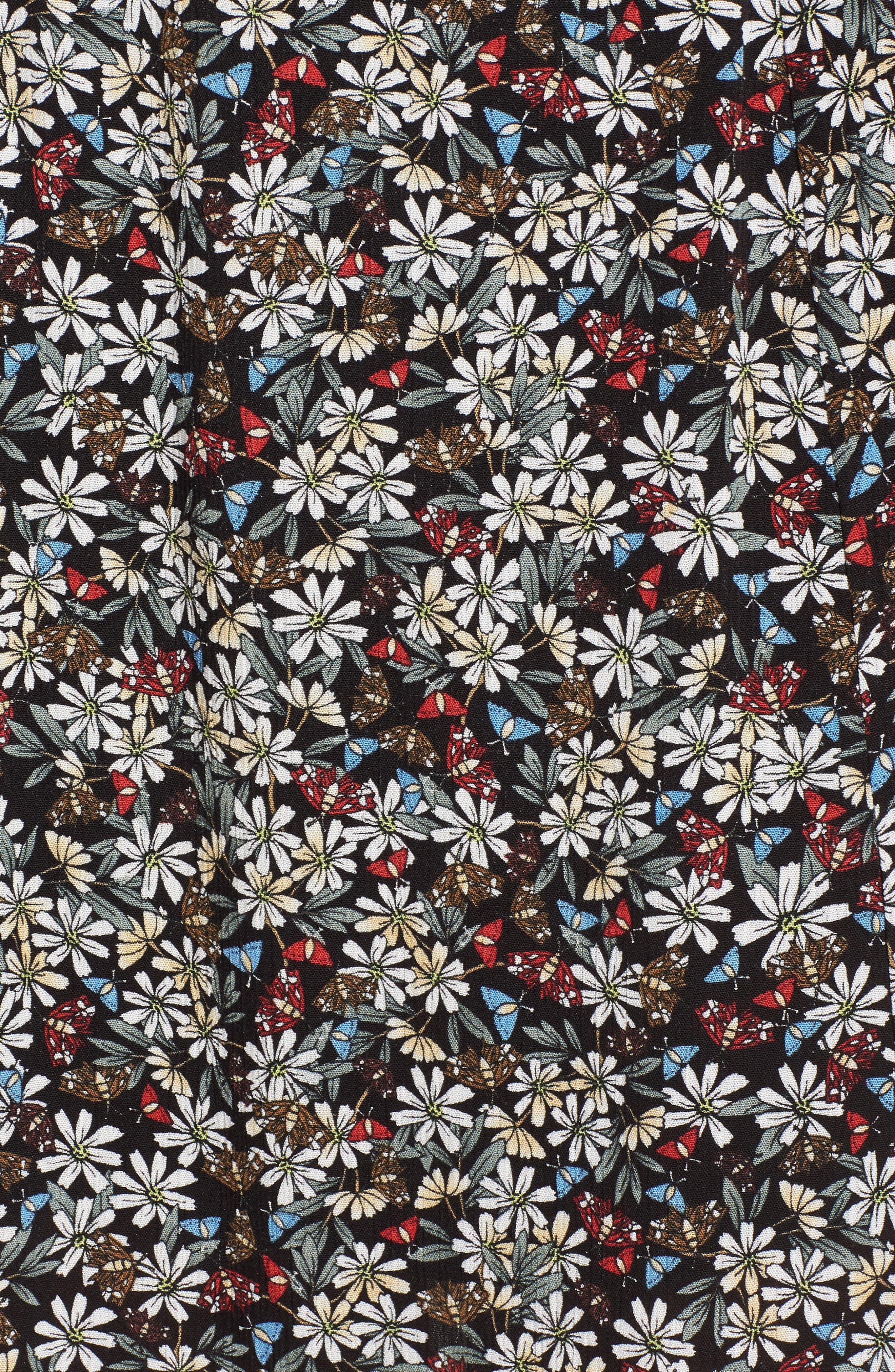 Flora Slit Front Maxi Skirt,                             Alternate thumbnail 6, color,                             Multi Black