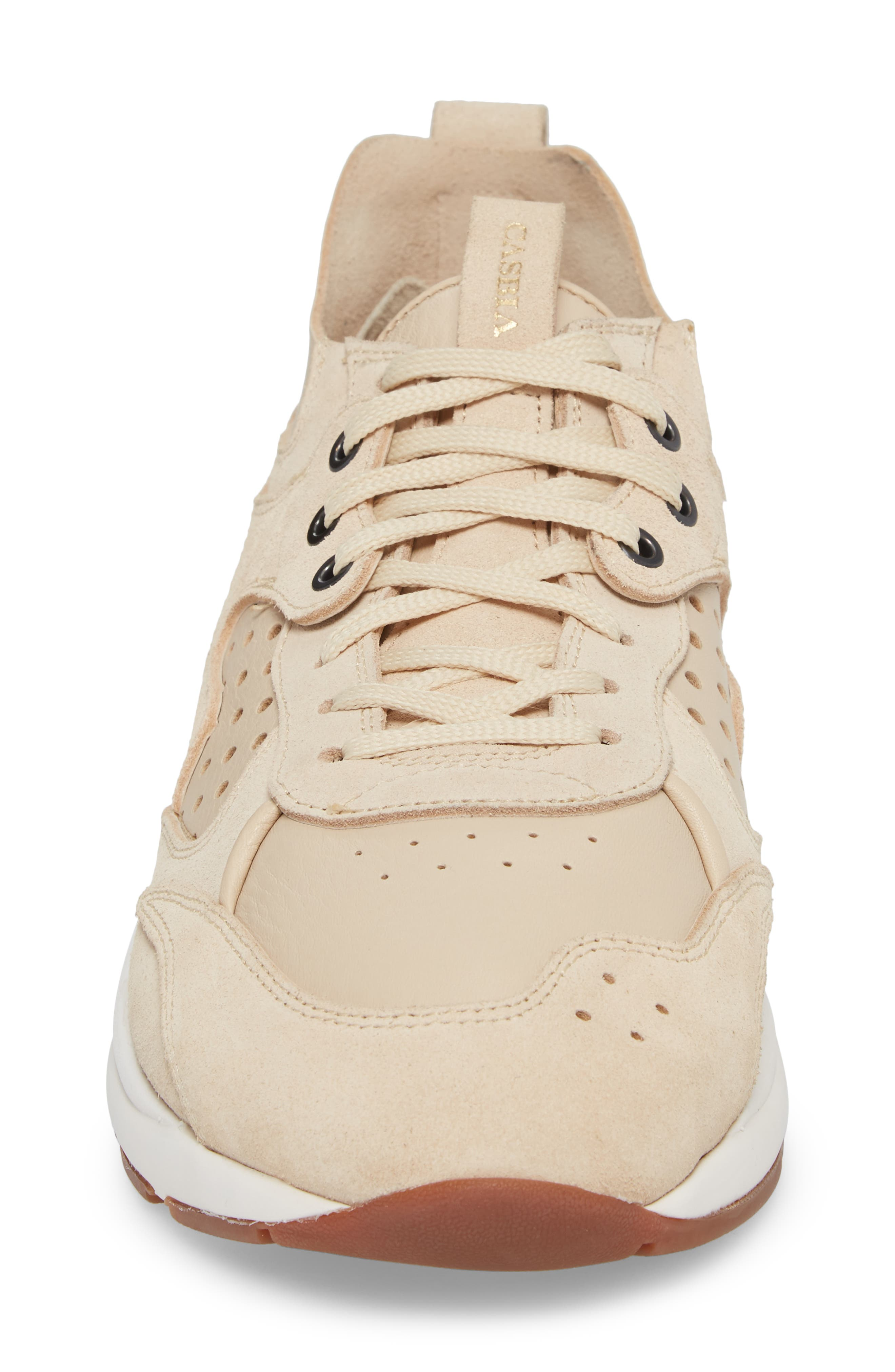 Champion Veloce Sneaker,                             Alternate thumbnail 4, color,                             Beige Suede