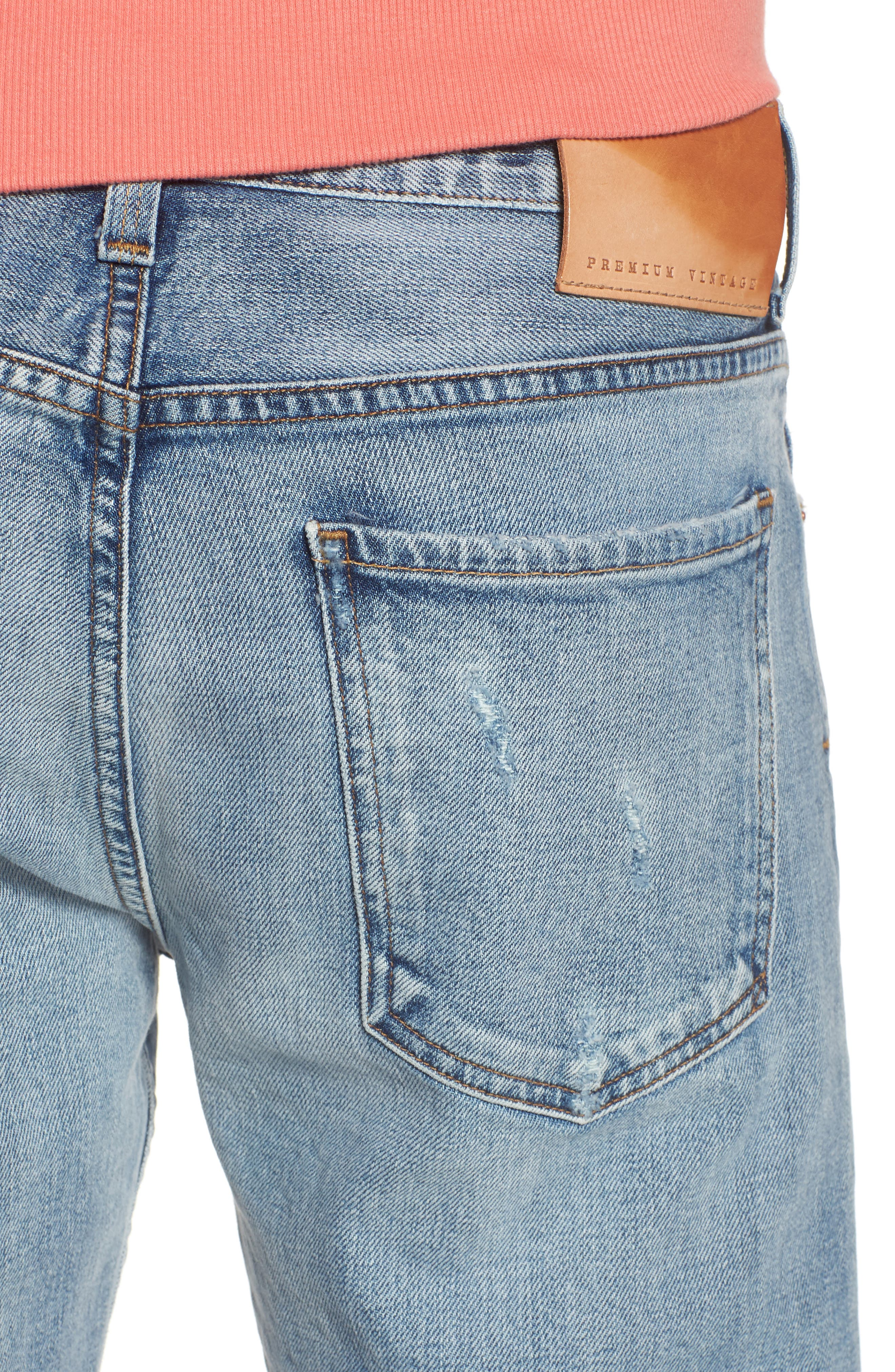 Bowery Slim Fit Jeans,                             Alternate thumbnail 4, color,                             Lone Pine