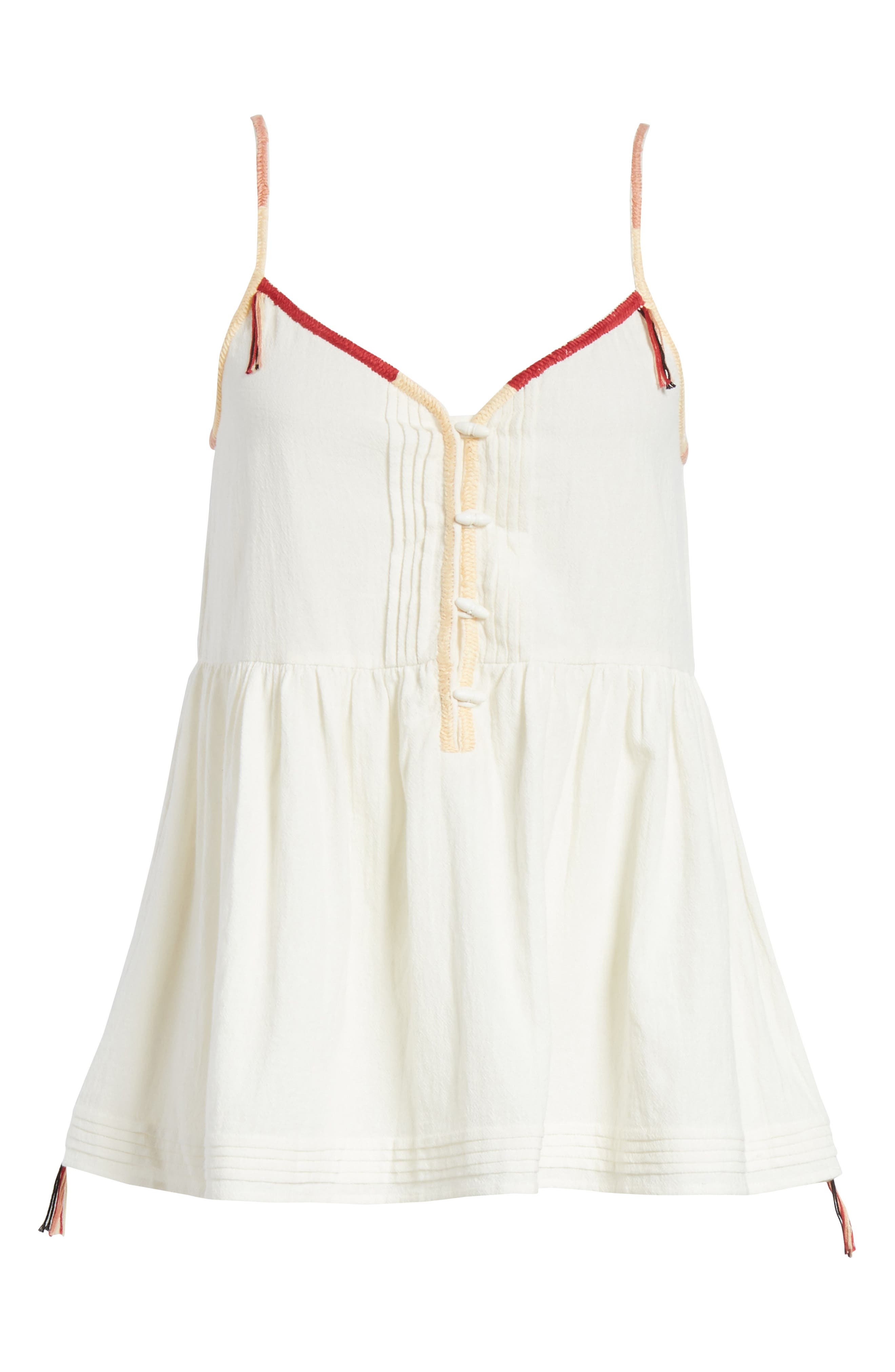 The Adobe Cotton Camisole,                             Alternate thumbnail 6, color,                             Off White