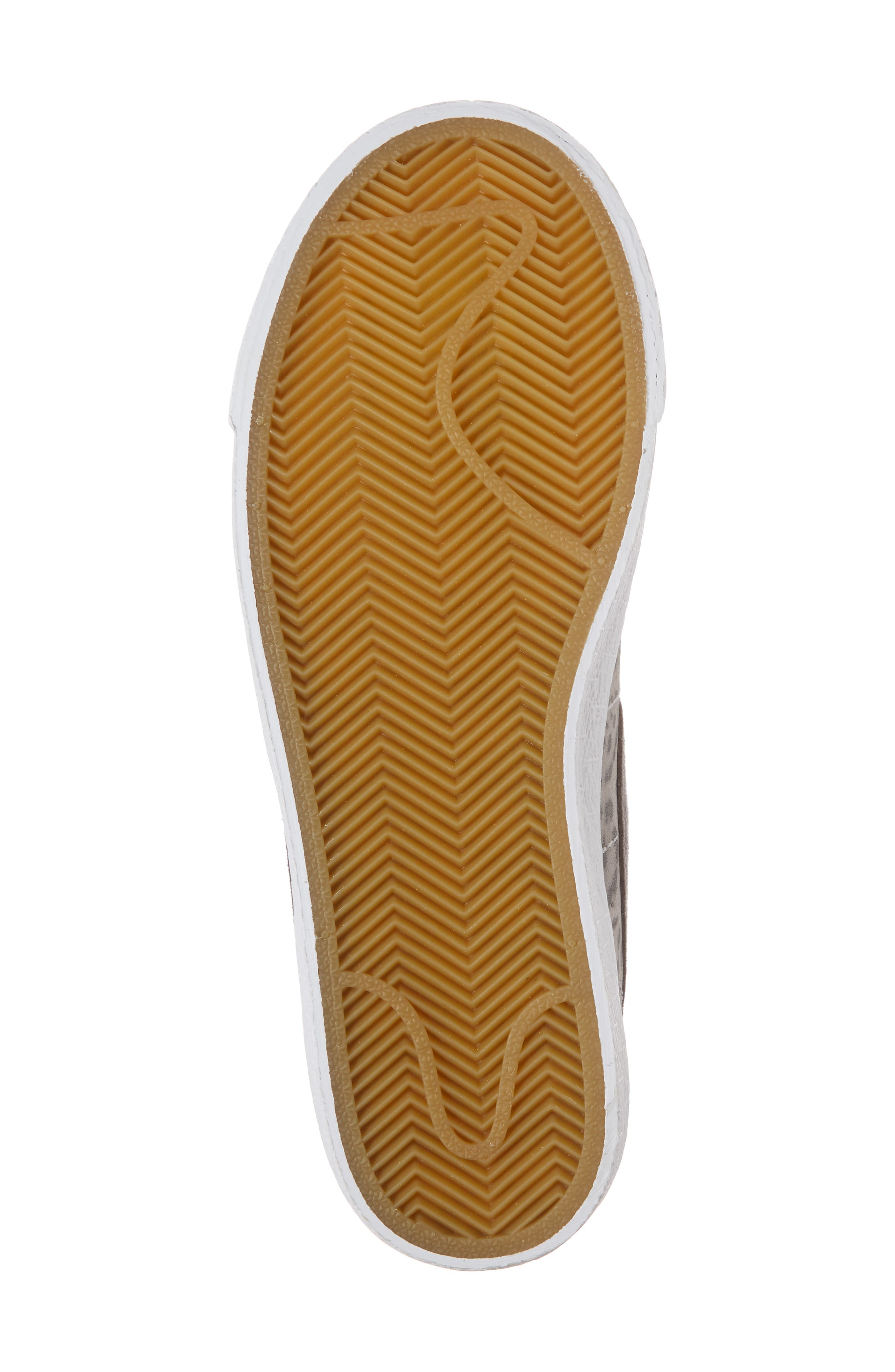 Blazer Mid SE High Top Sneaker,                             Alternate thumbnail 6, color,                             Atmosphere Grey/ Smoke/ Gum