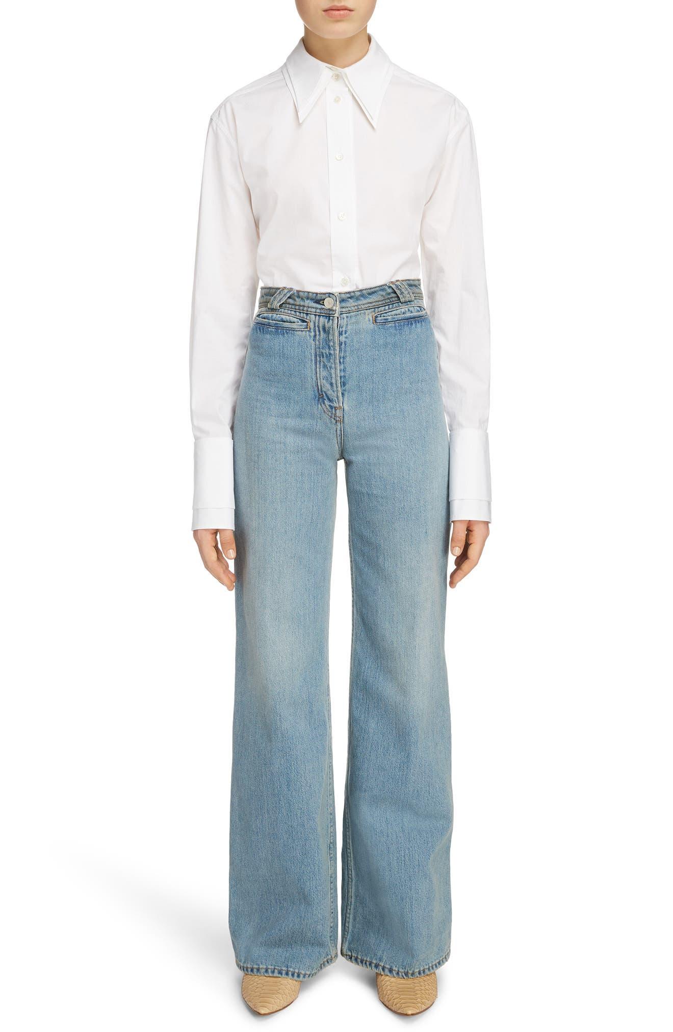 Tiffan Wide Leg Jeans,                             Alternate thumbnail 13, color,                             Blue Vintage
