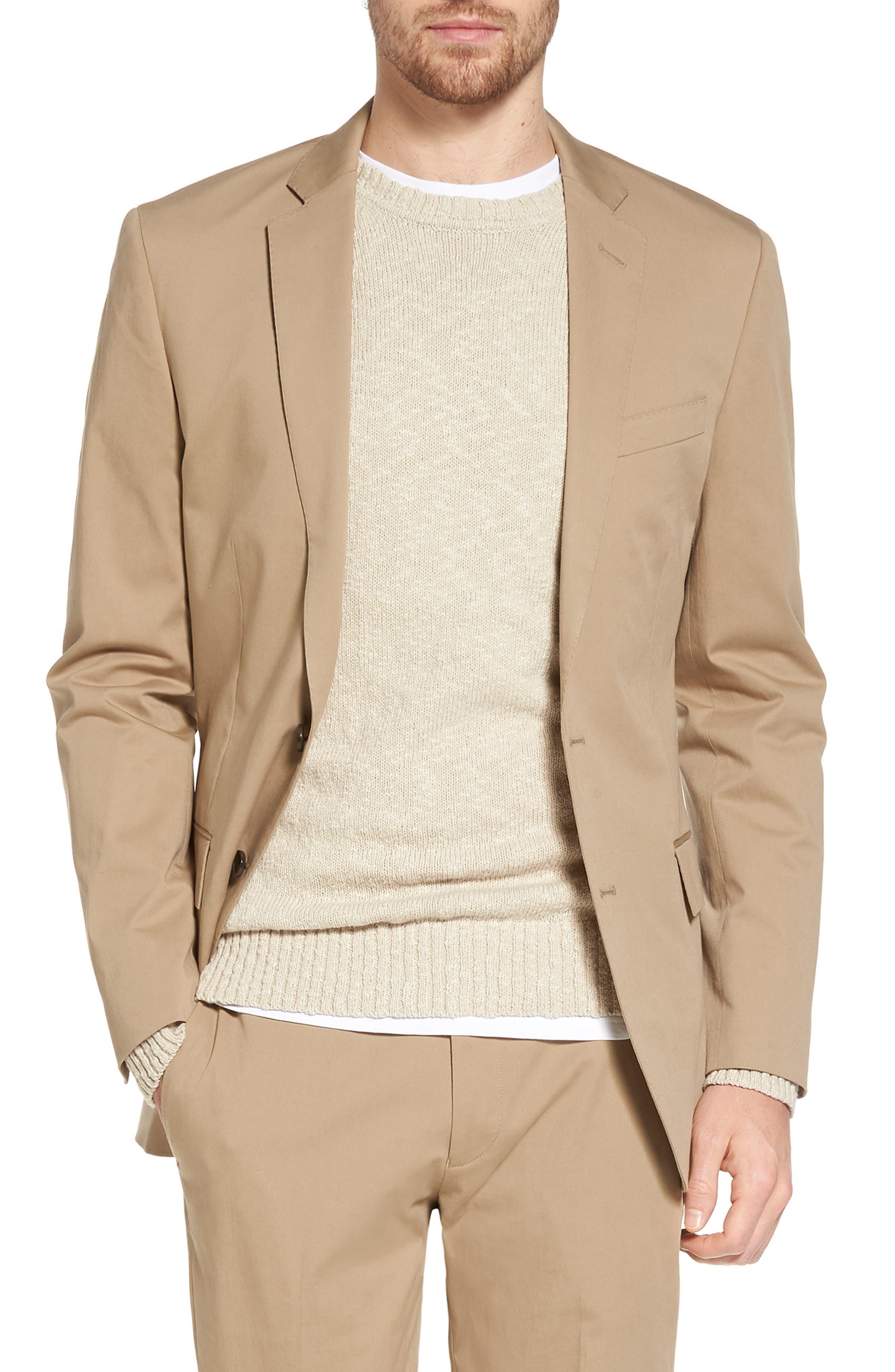 Ludlow Stretch Chino Blazer,                         Main,                         color, Khaki