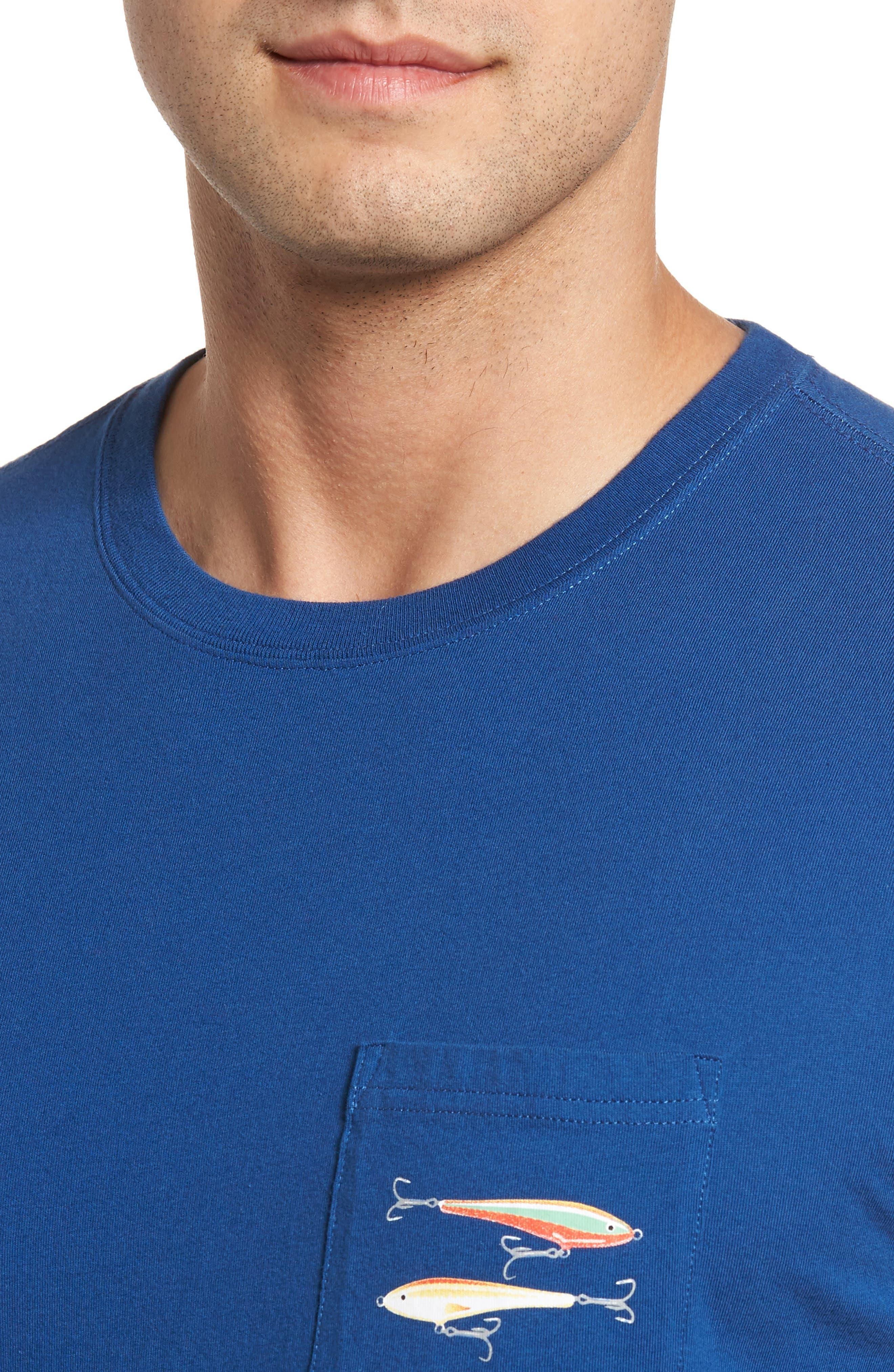 Hanging Out Regular Fit T-Shirt,                             Alternate thumbnail 4, color,                             Blue Lake