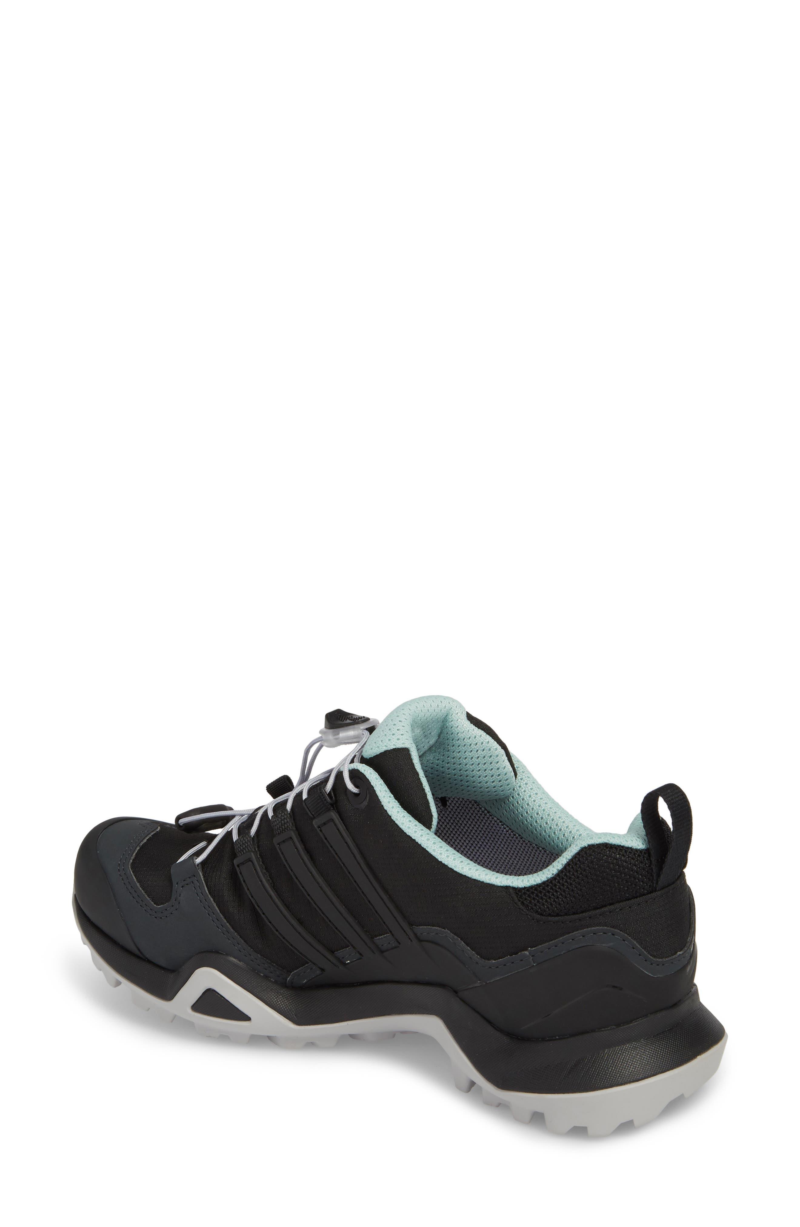 Terrex Swift R2 Gore-Tex<sup>®</sup> Hiking Shoe,                             Alternate thumbnail 2, color,                             Black/ Black/ Ash Green
