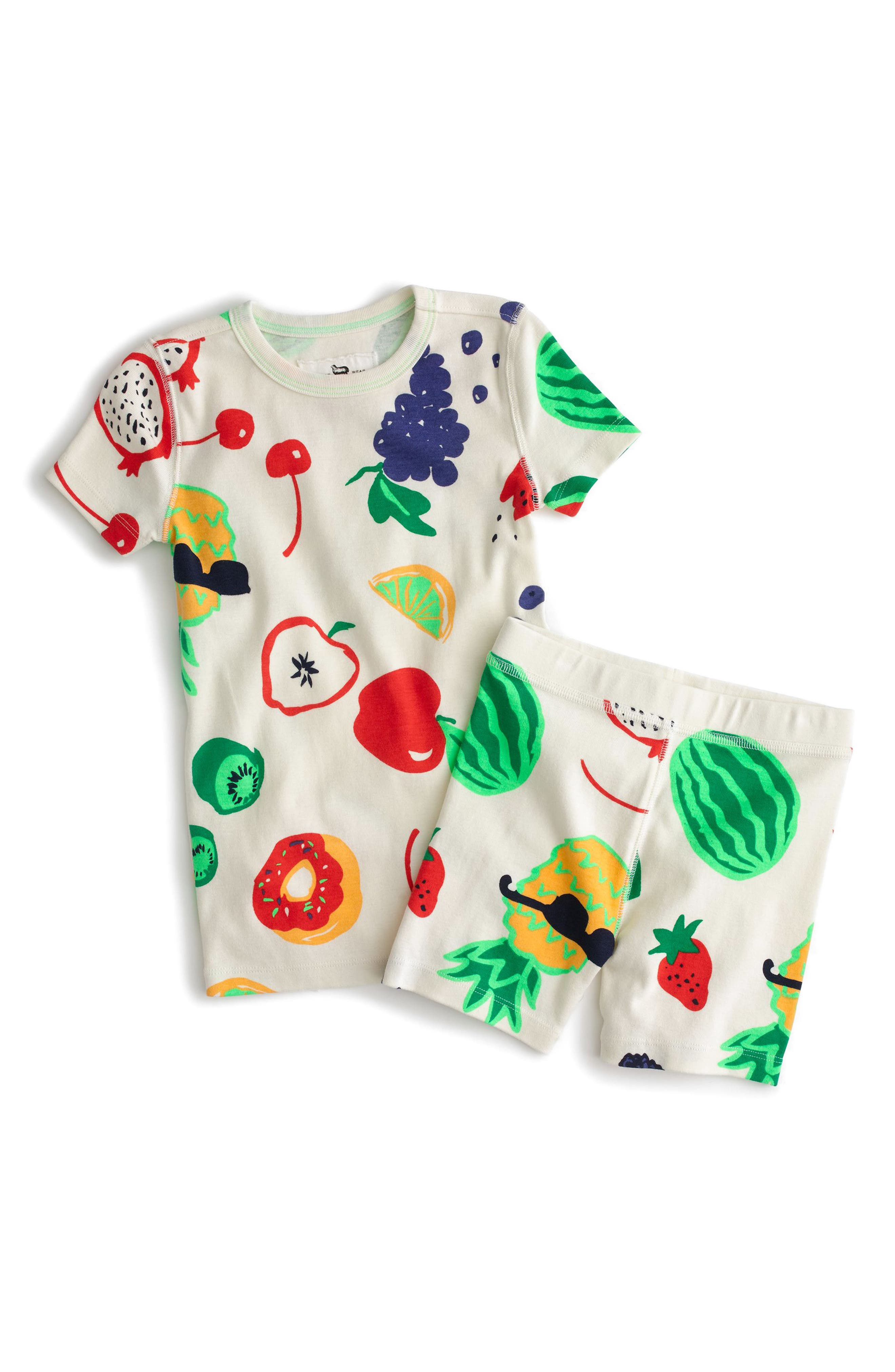 crewcuts by J.Crew Fruity Fun Fitted Two-Piece Pajamas (Toddler Girls, Little Girls & Big Girls)