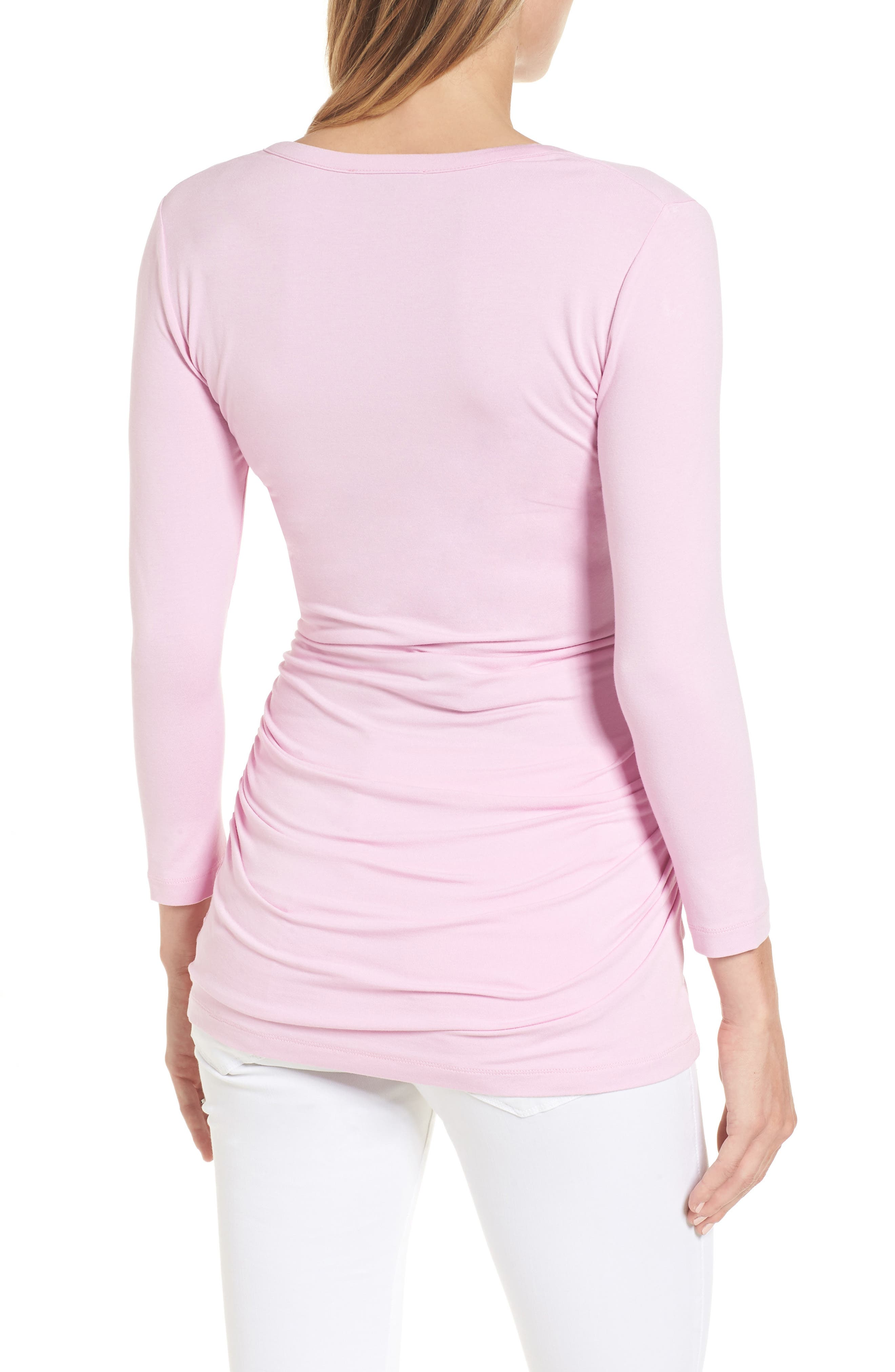 Harley Maternity Top,                             Alternate thumbnail 2, color,                             Lilac