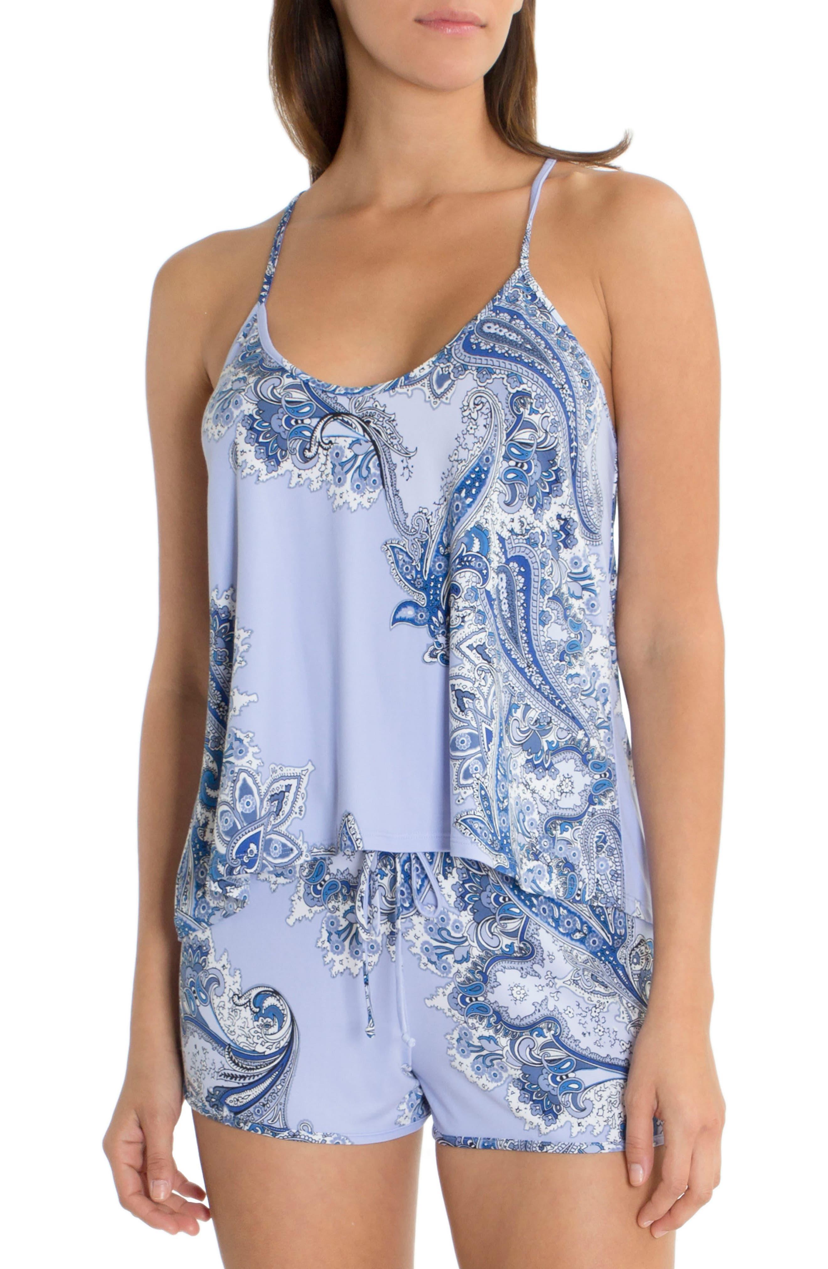Short Pajamas,                         Main,                         color, Sky Blue