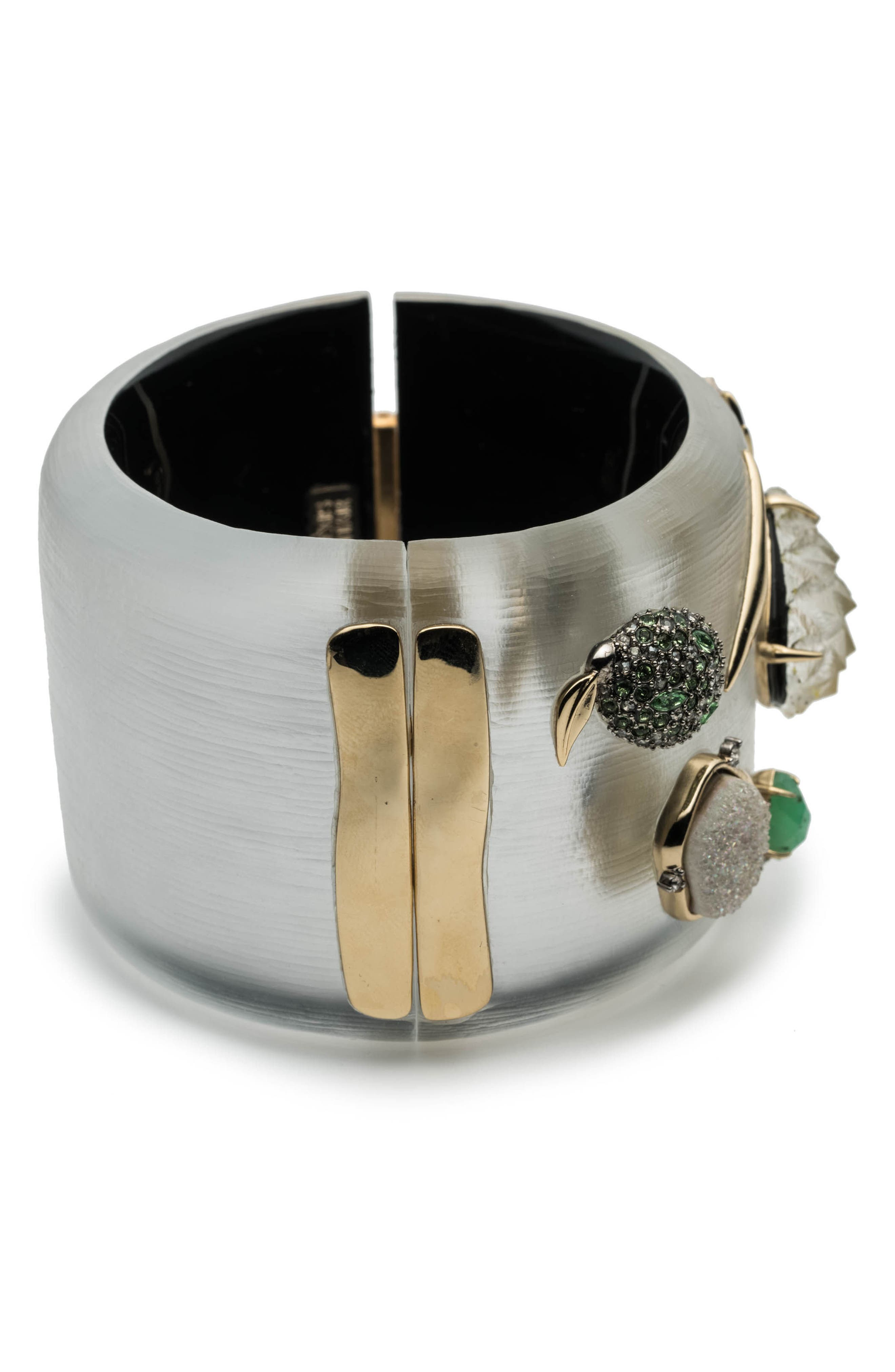 Fruit Studded Lucite<sup>®</sup> Hinge Bracelet,                             Alternate thumbnail 3, color,                             Silver