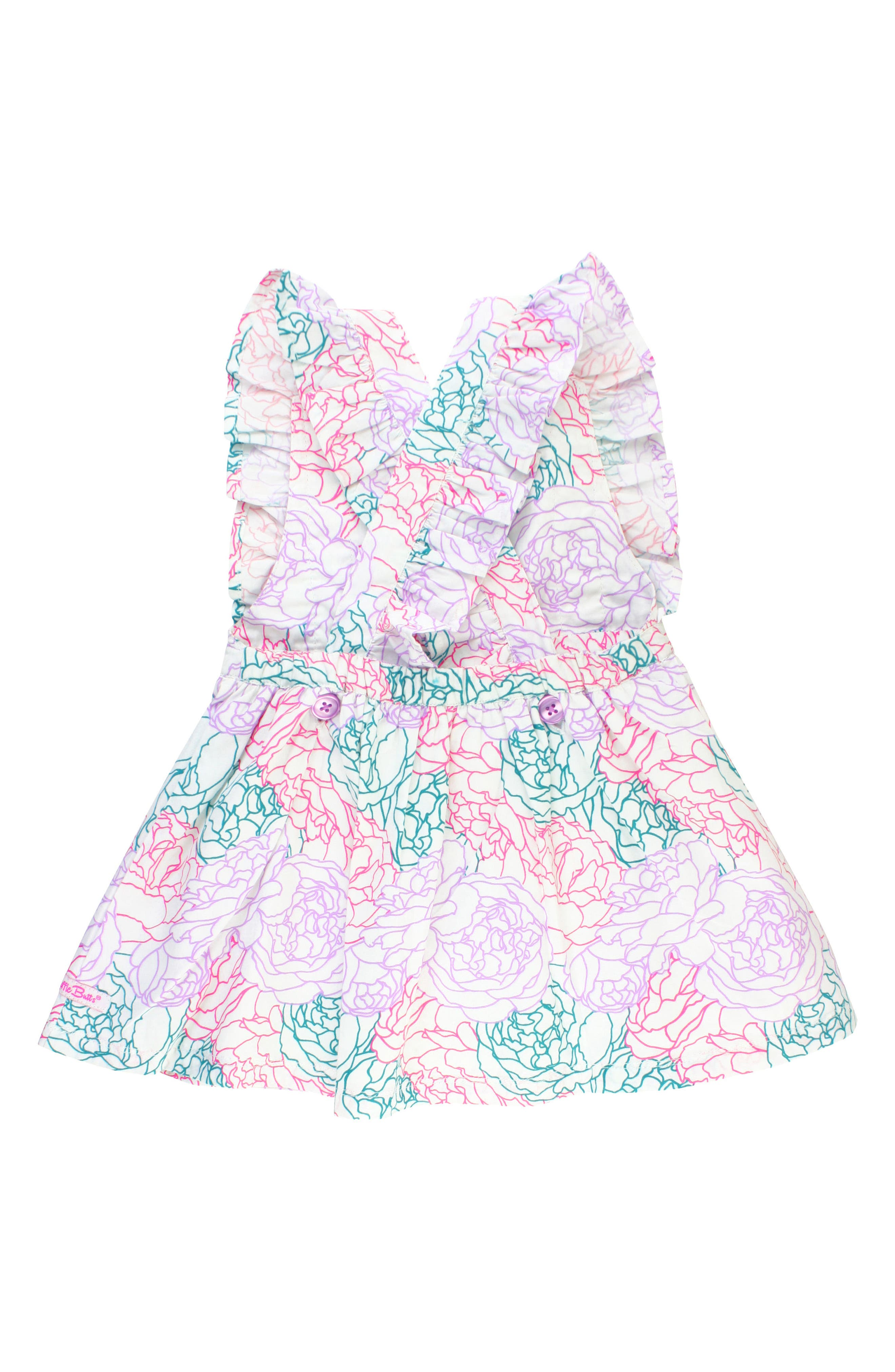 Peony Party Dress,                             Alternate thumbnail 2, color,                             White