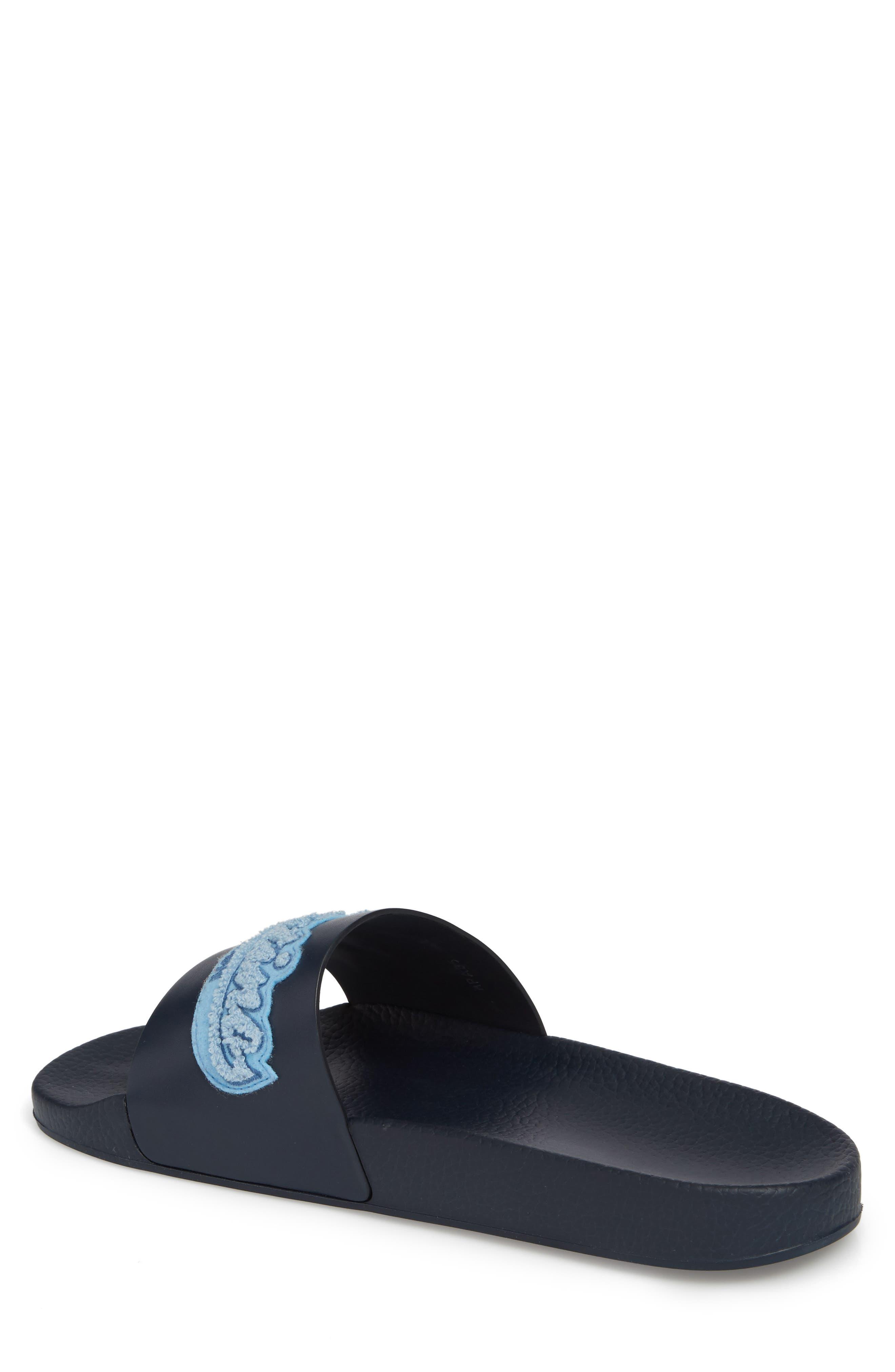 Slide Sandal,                             Alternate thumbnail 2, color,                             Marine/ Stone