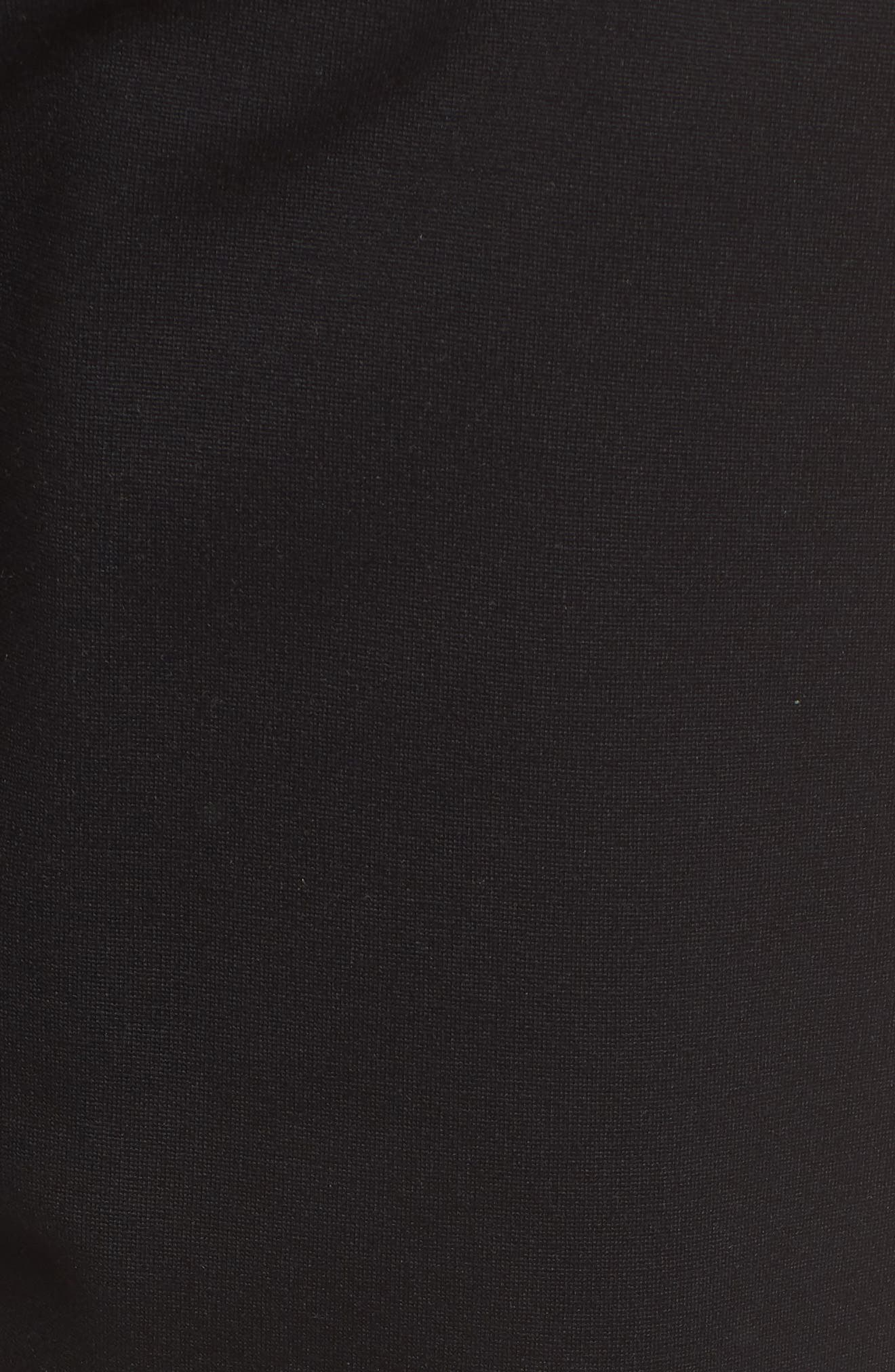 Maxine Contrast Maternity Pants,                             Alternate thumbnail 5, color,                             Caviar Black