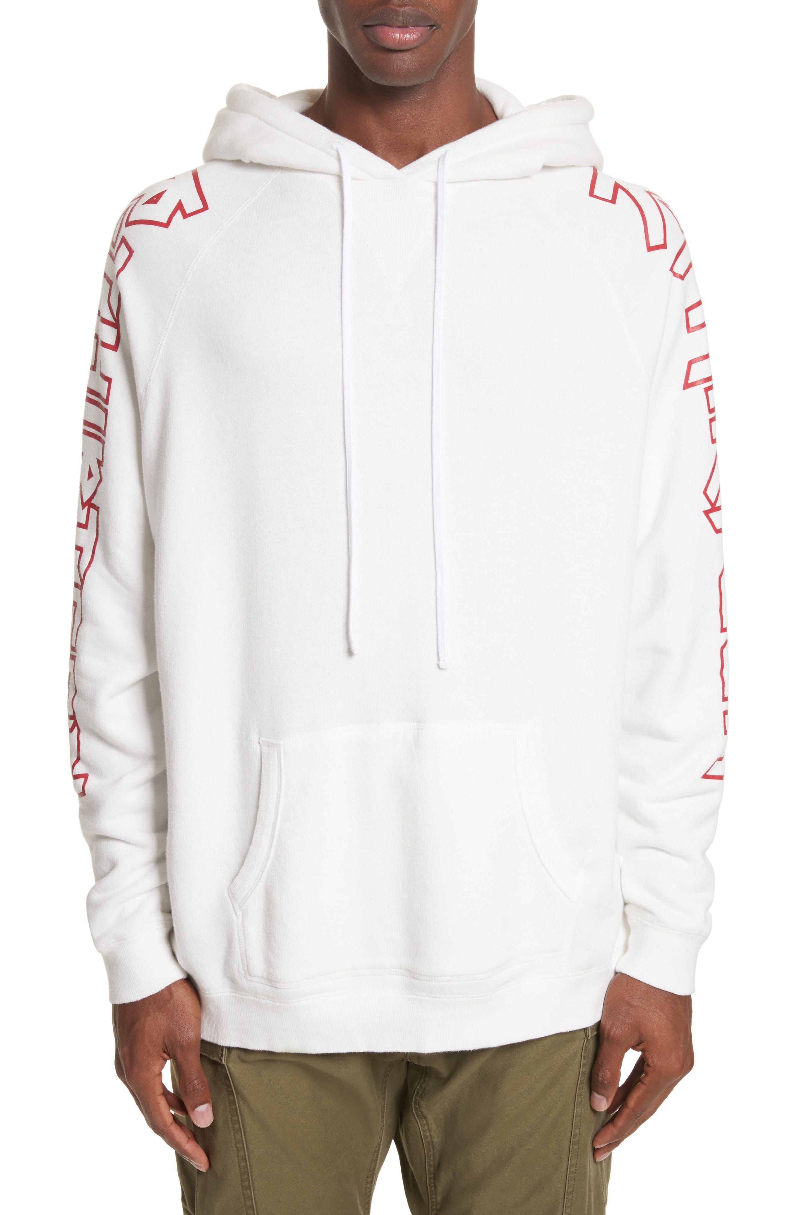 rThirteen Graphic Hoodie,                         Main,                         color, White