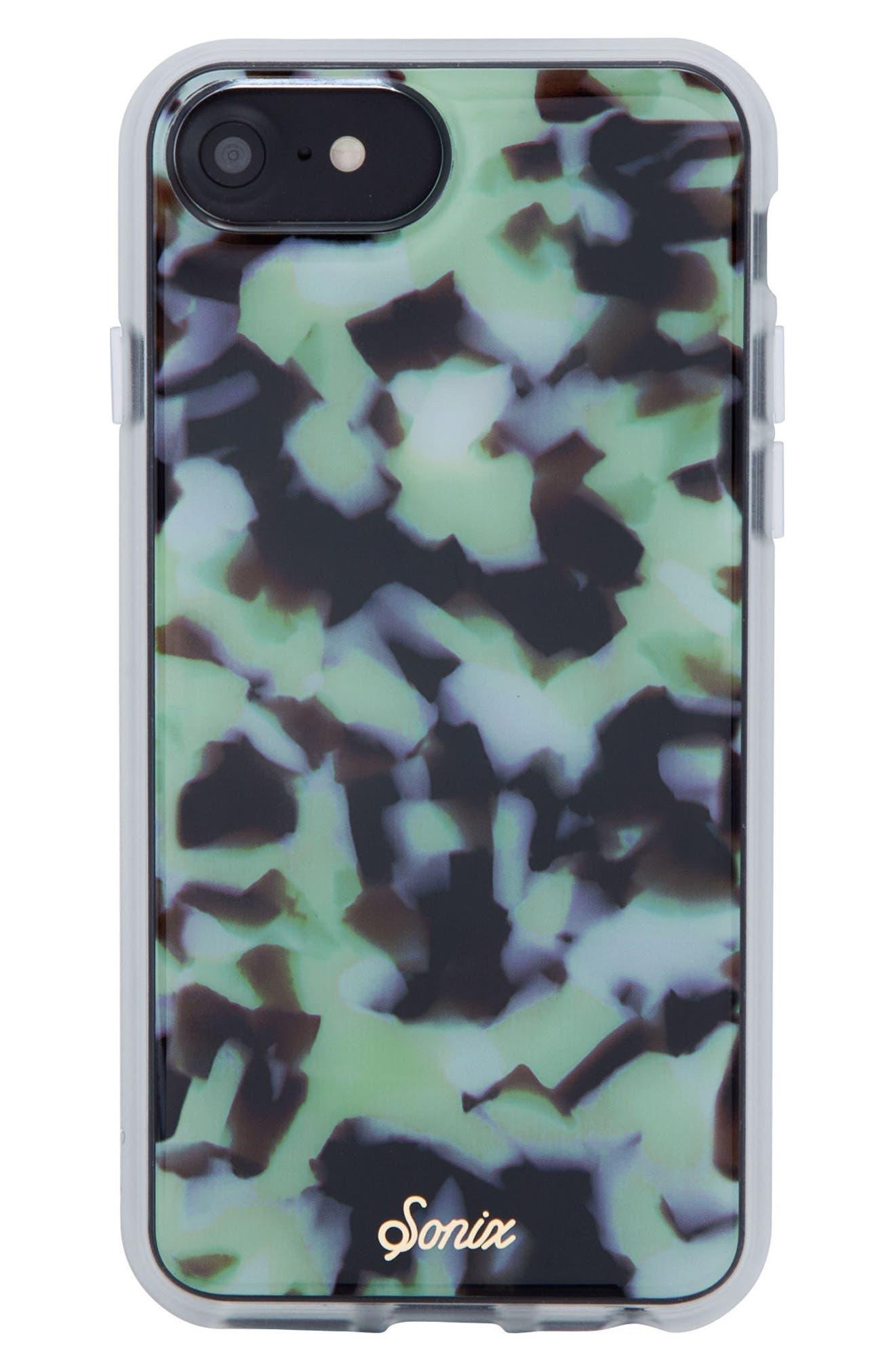 Terrazzo Mint iPhone 6/6s/7/8 & 6/6s/7/8 Plus Case,                         Main,                         color, Mint