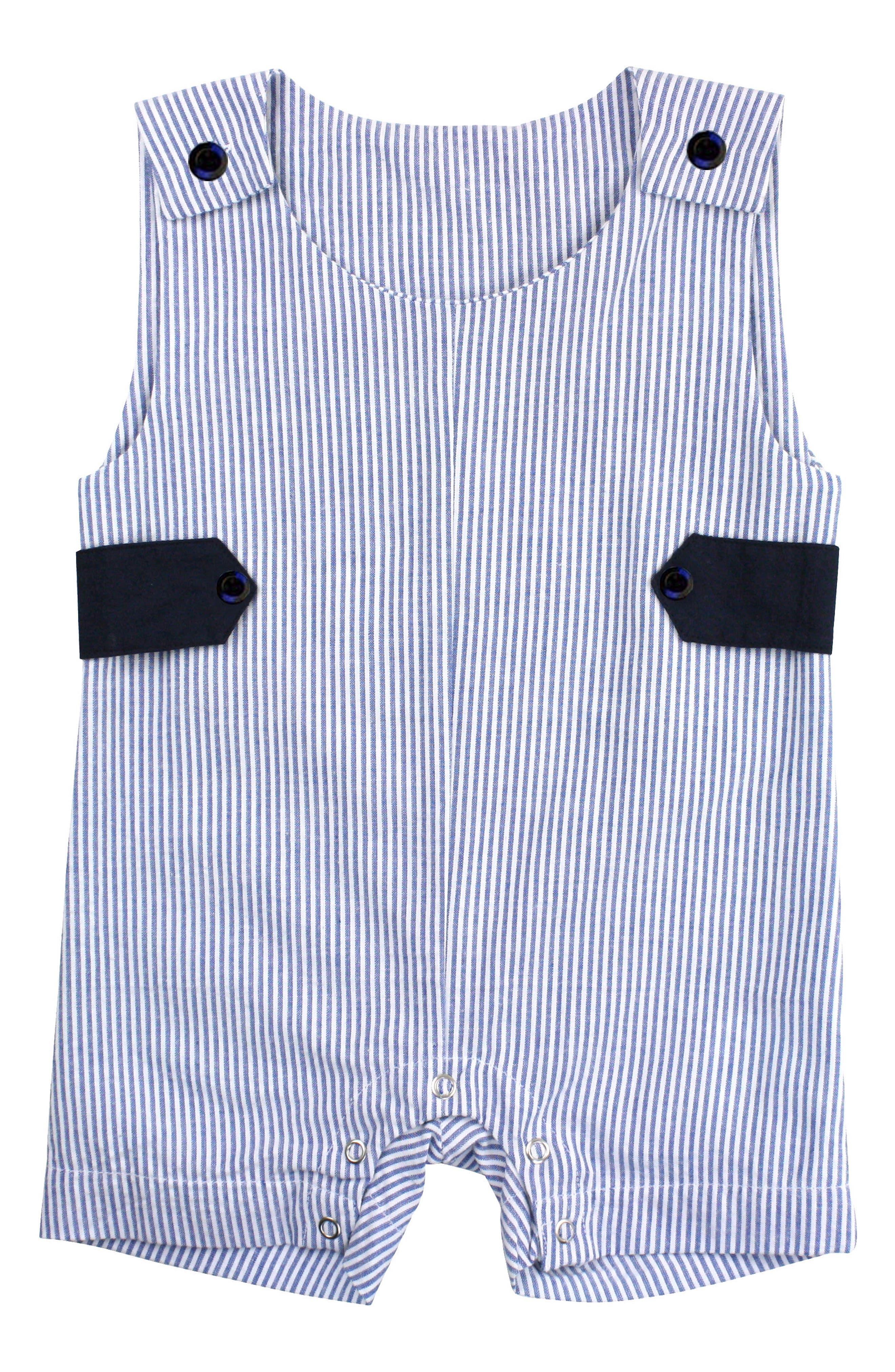 RuggedButts Seersucker Stripe Overalls (Baby Boys)