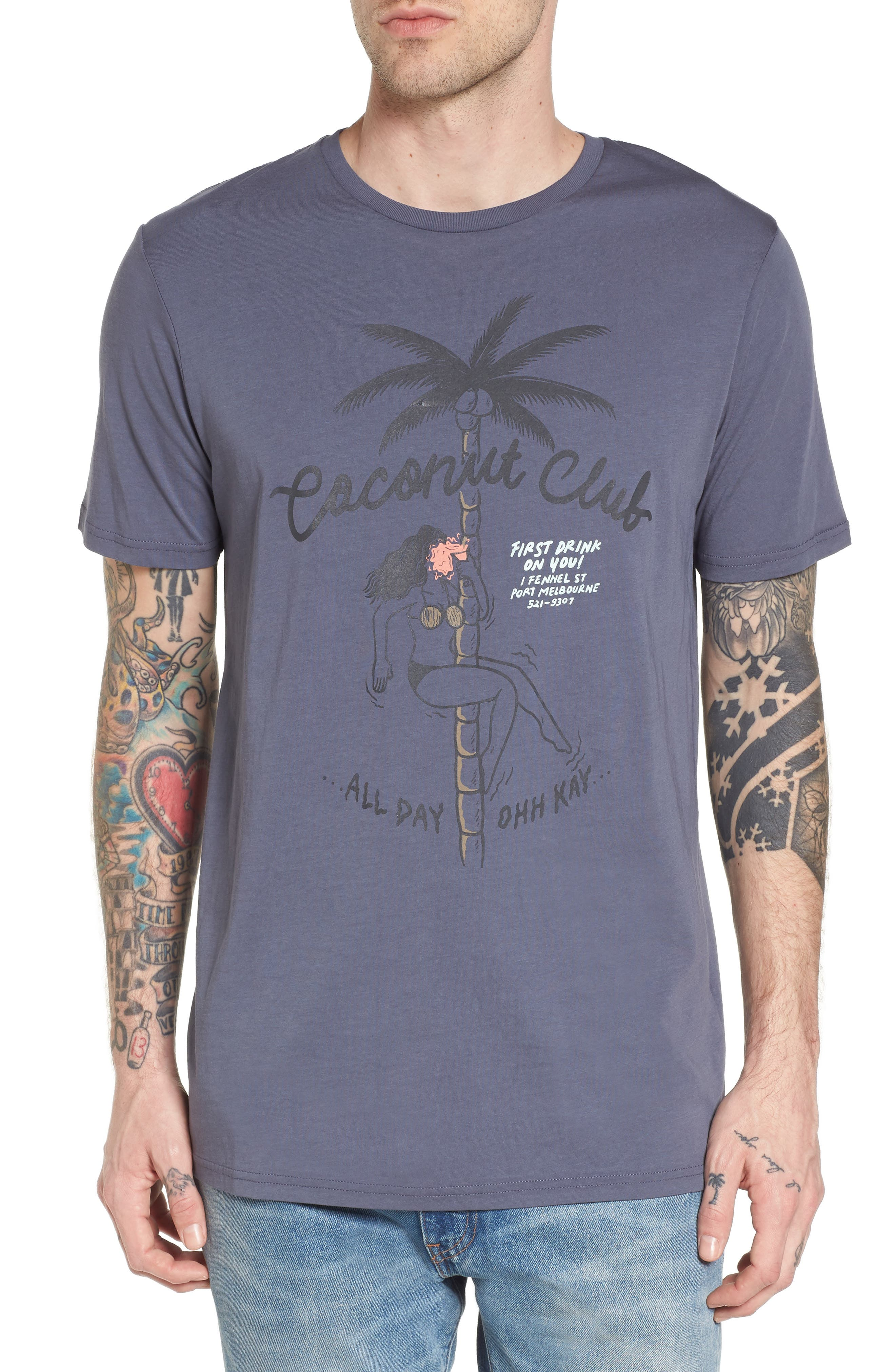 Club Graphic T-Shirt,                         Main,                         color, Bruise Blue