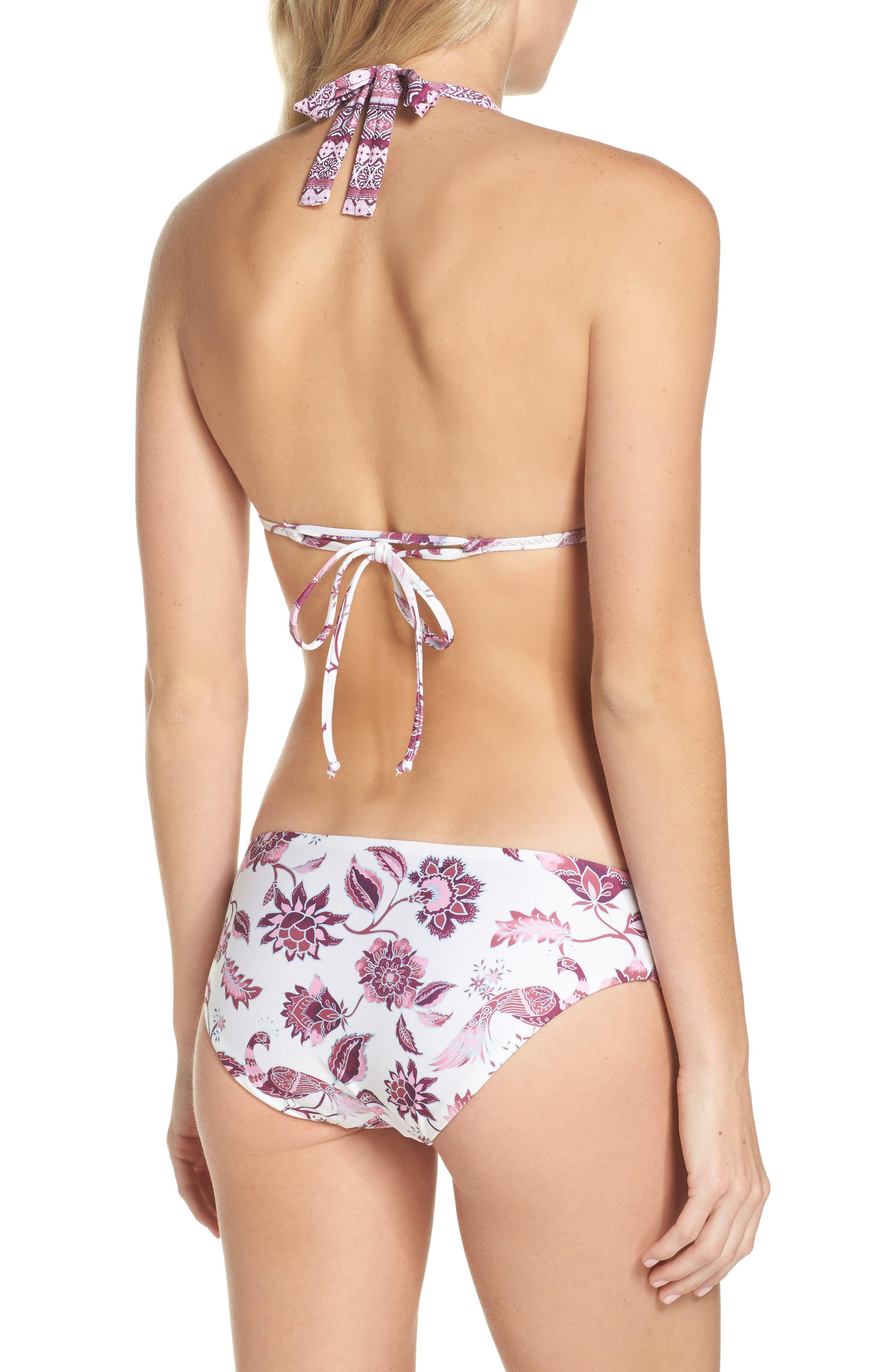 Tahiti Halter Bikini Top,                             Alternate thumbnail 6, color,                             White/ Pink Multi