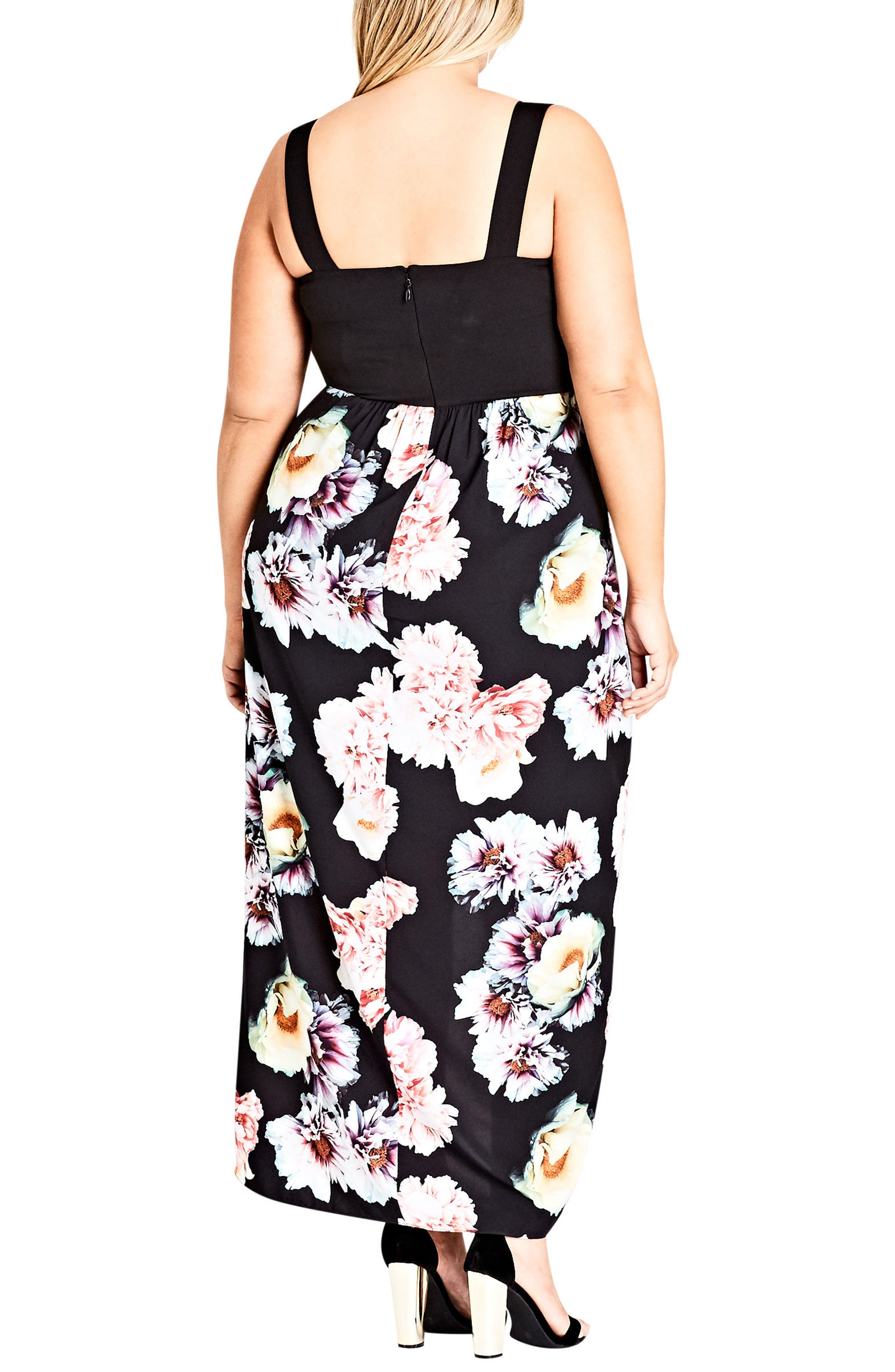Beautiful Lies Maxi Dress,                             Alternate thumbnail 2, color,                             Black