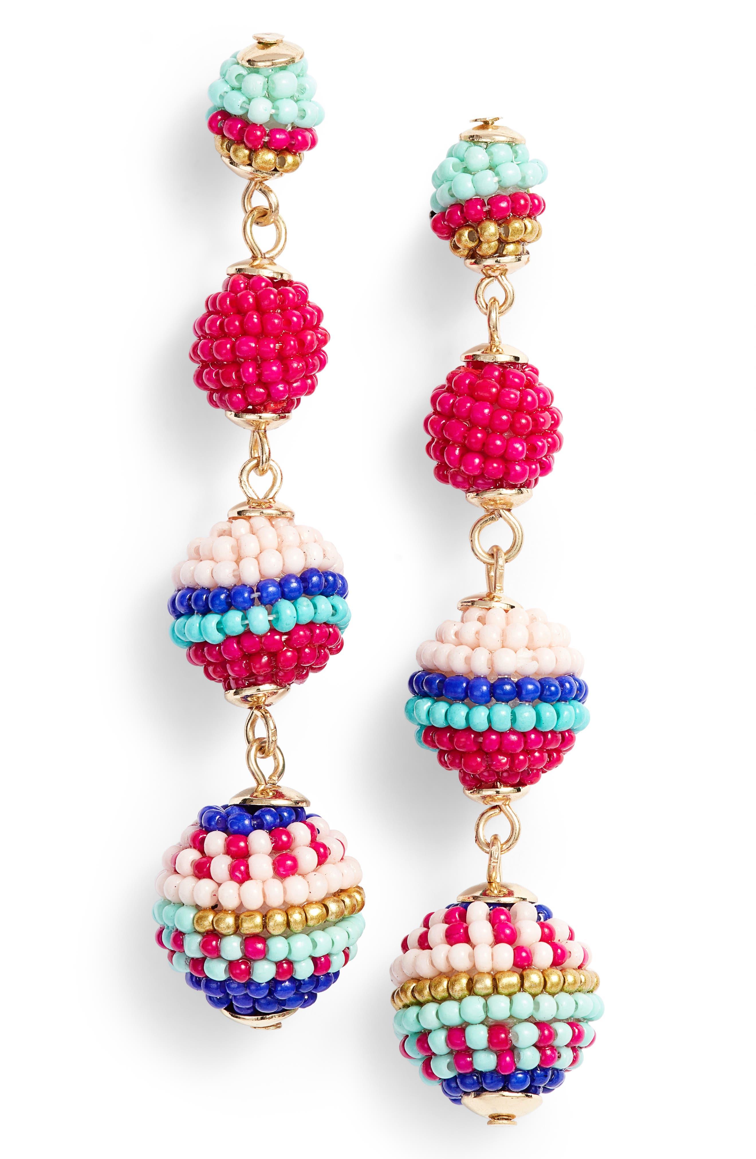 Rebecca Minkoff Blair Beaded Ball Drop Earrings