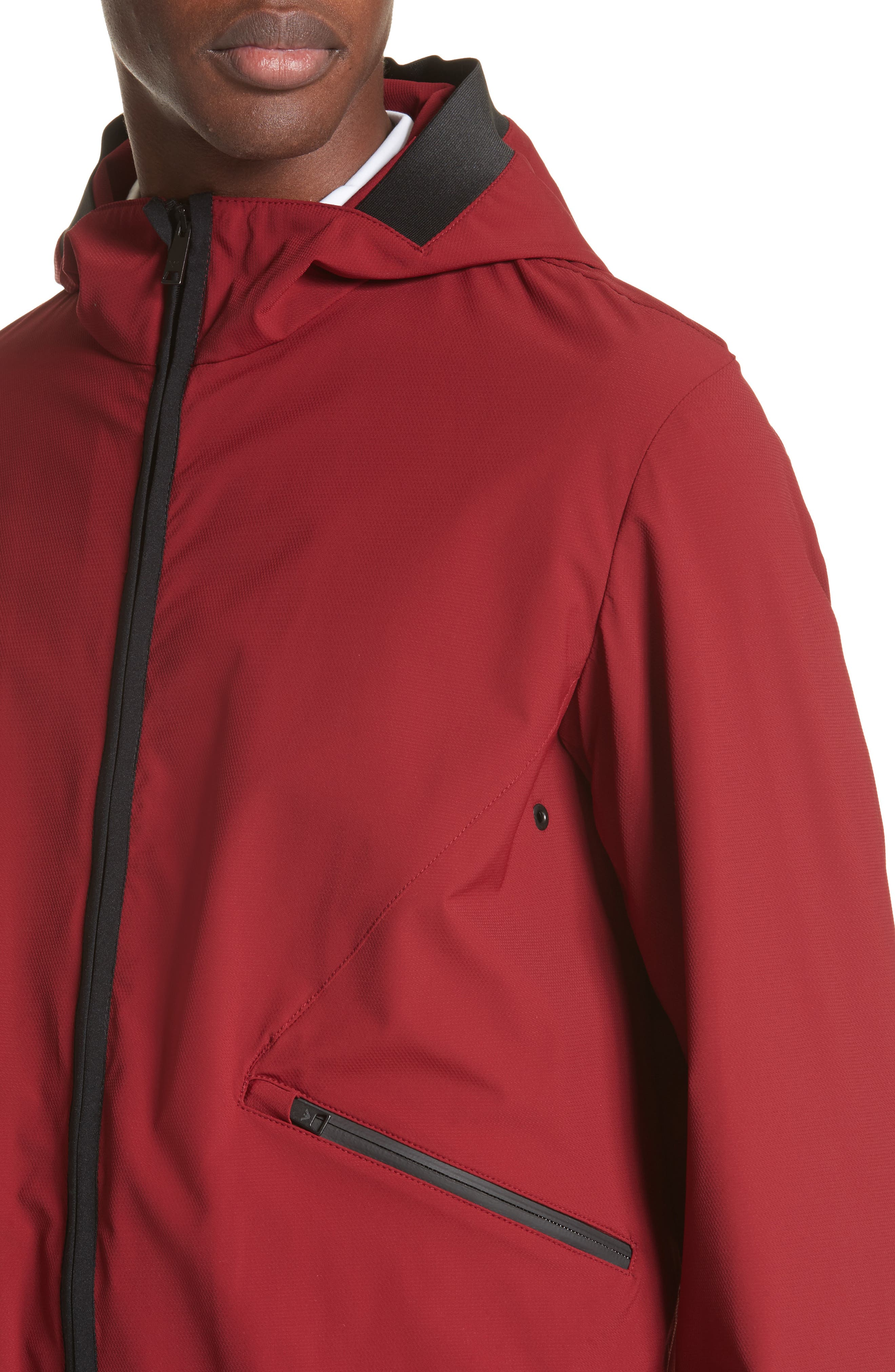 Water Repellent Jacket,                             Alternate thumbnail 4, color,                             Red