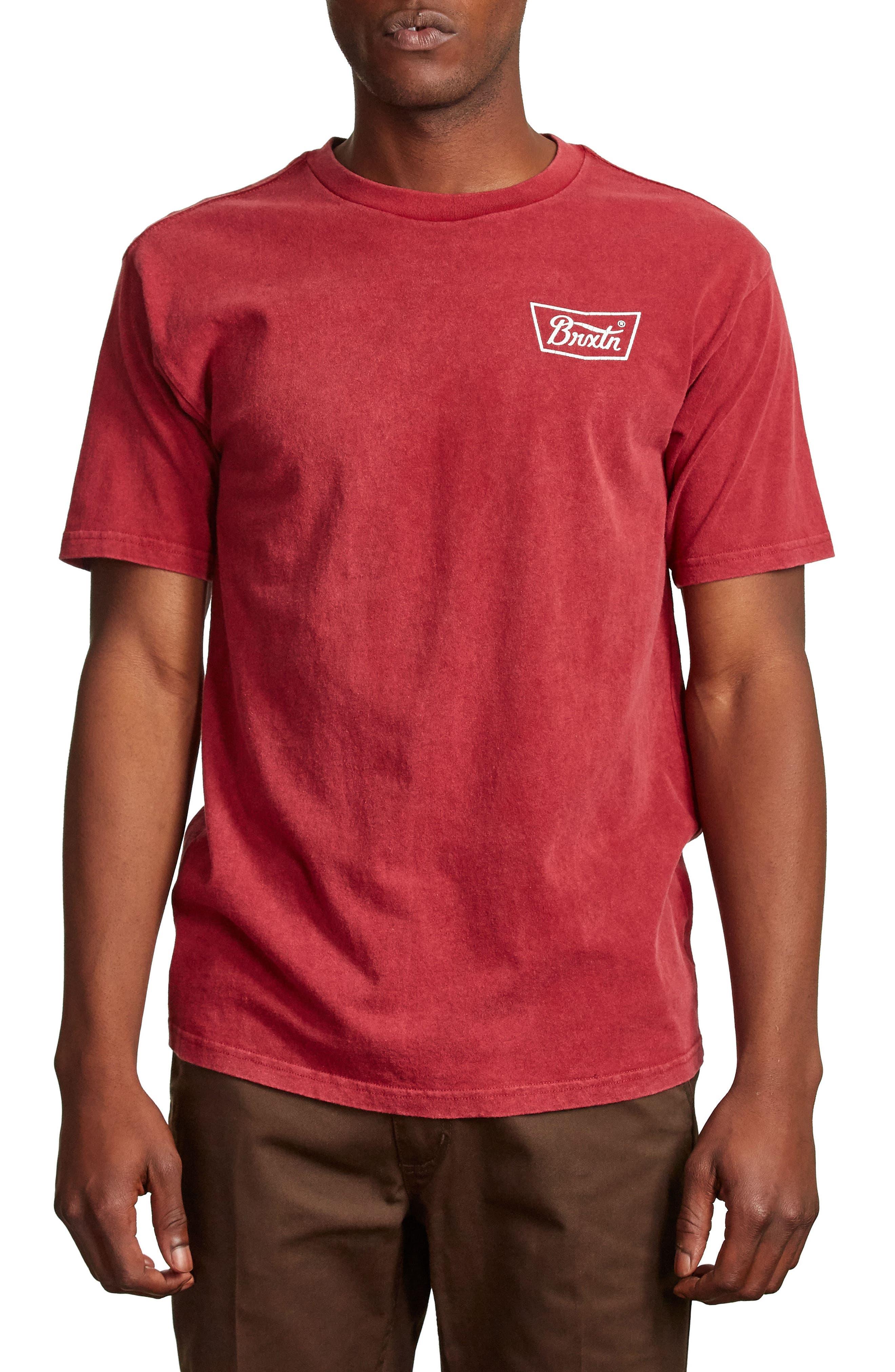 Stith Graphic T-Shirt,                         Main,                         color, Burgundy